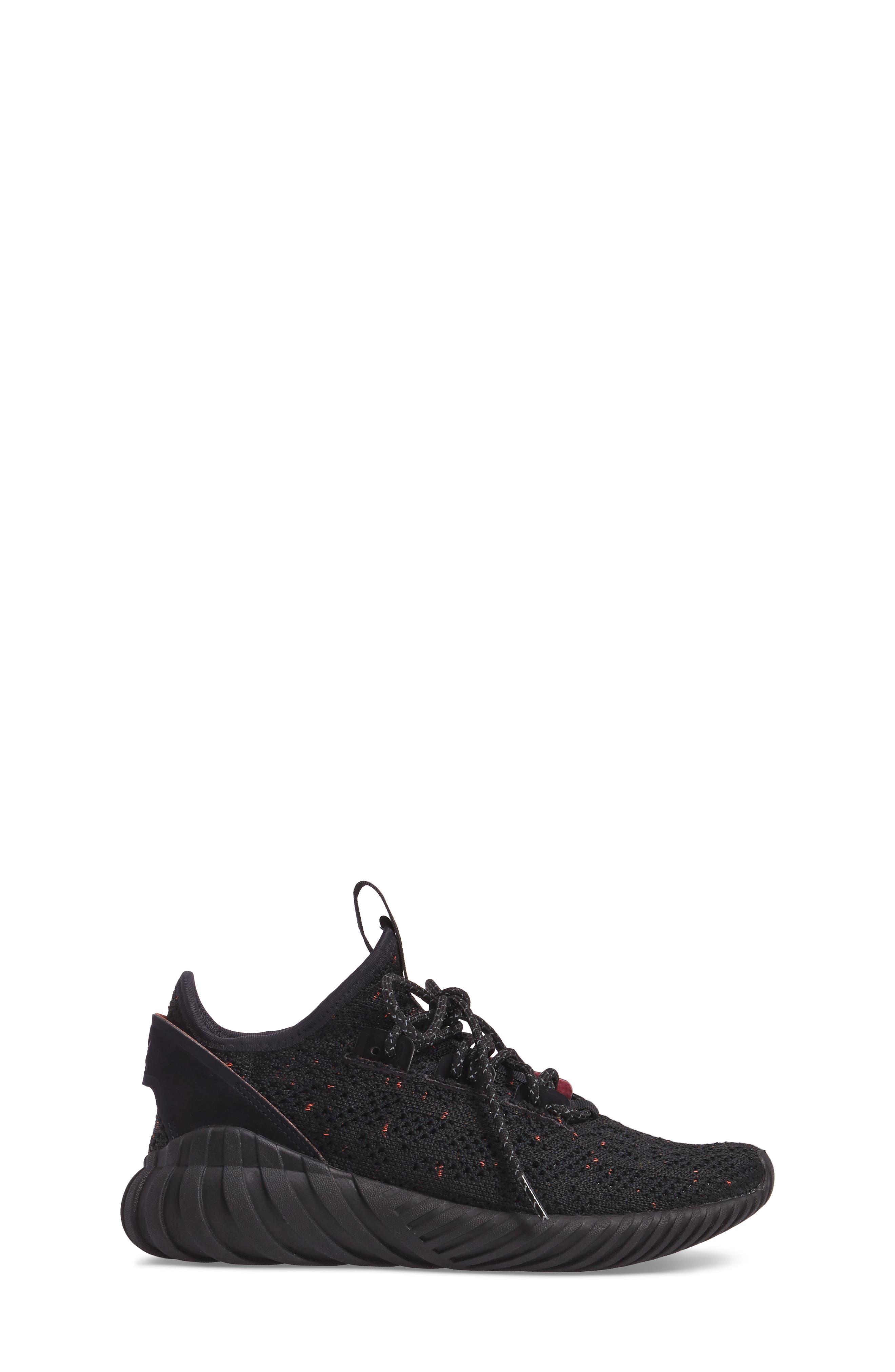 Tubular Doom Primeknit Sneaker,                             Alternate thumbnail 3, color,                             002