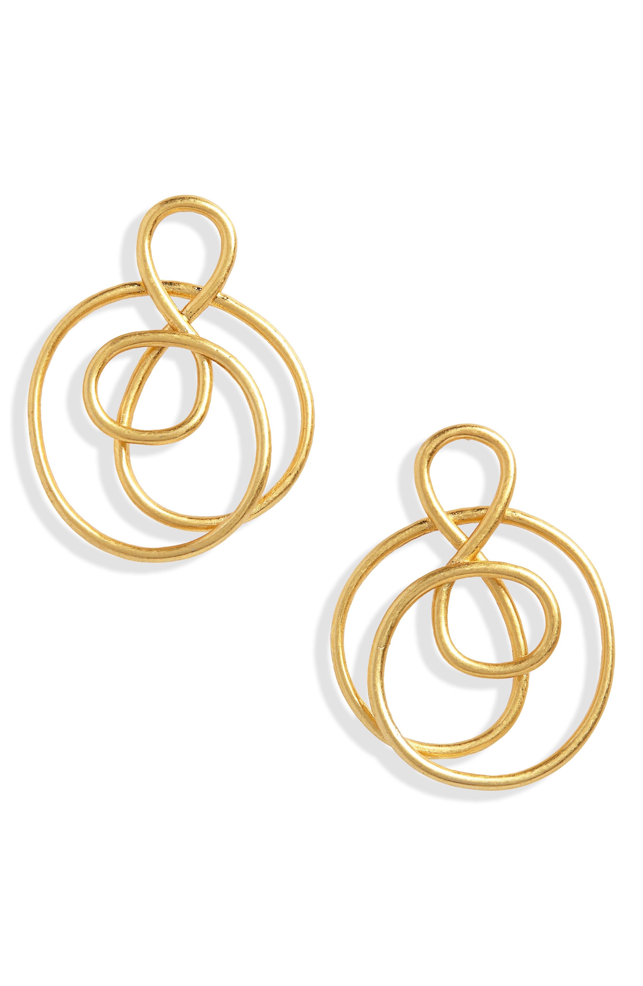 Treble Twist Earrings,                         Main,                         color, VINTAGE GOLD