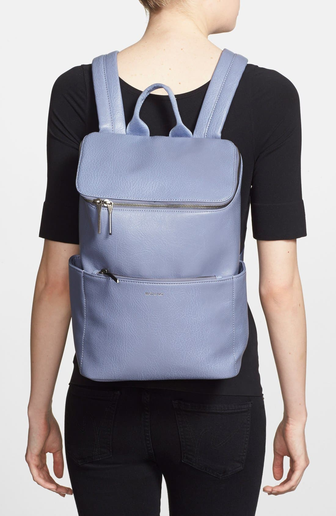 'Brave' Faux Leather Backpack,                             Alternate thumbnail 47, color,