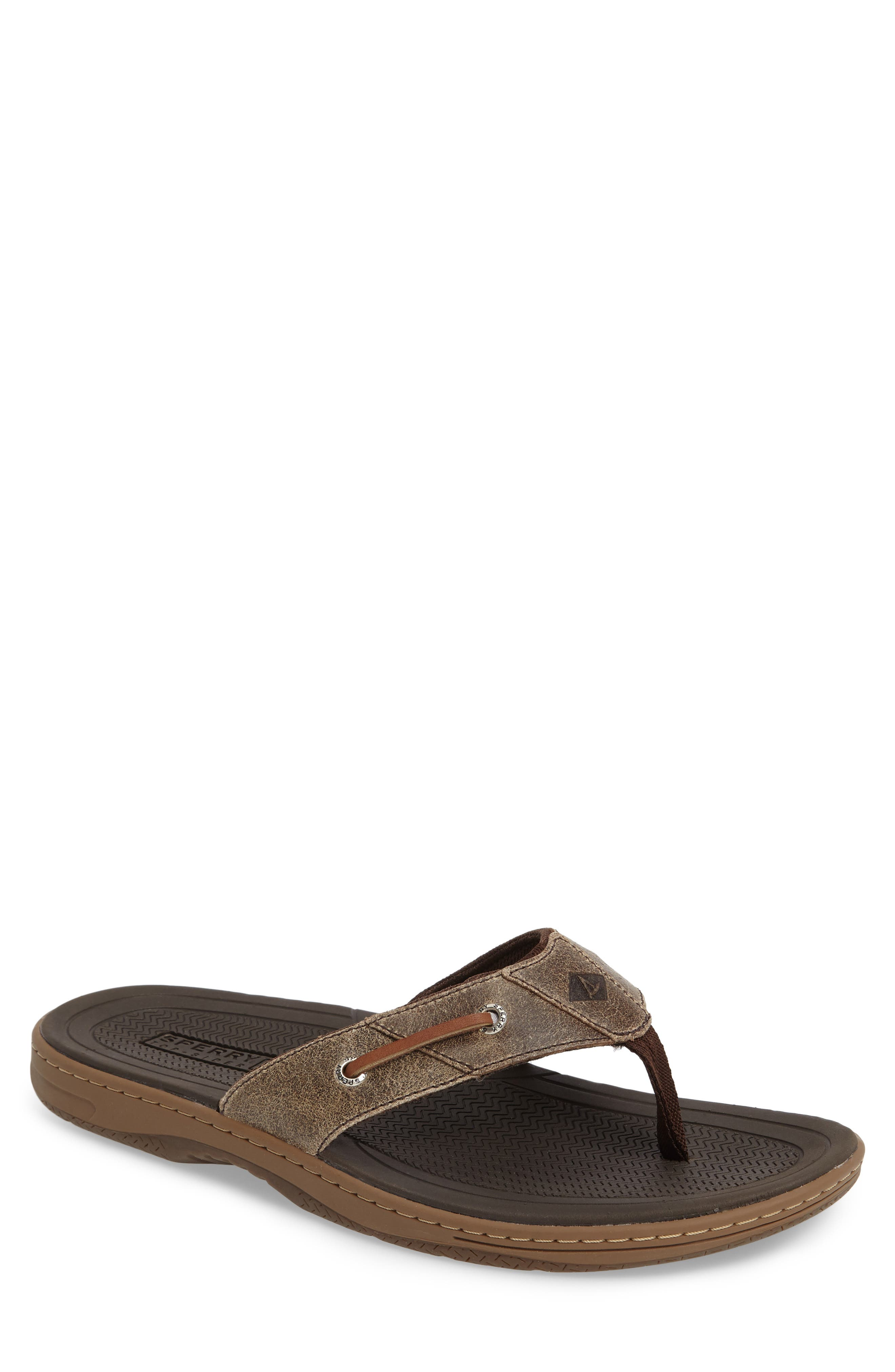'Baitfish' Sandal,                         Main,                         color, BROWN/BROWN