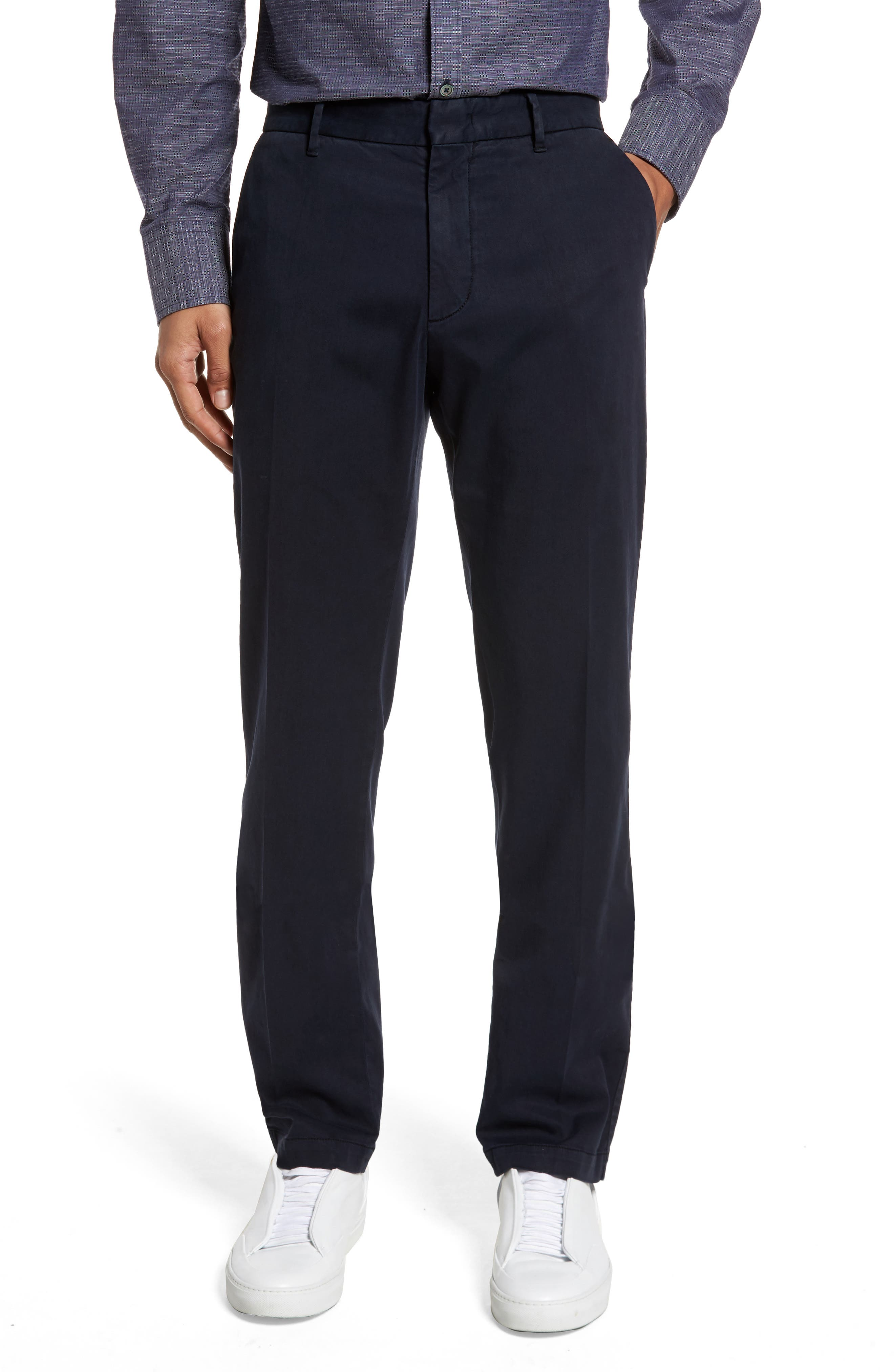 ZACHARY PRELL Aster Straight Fit Pants in Navy