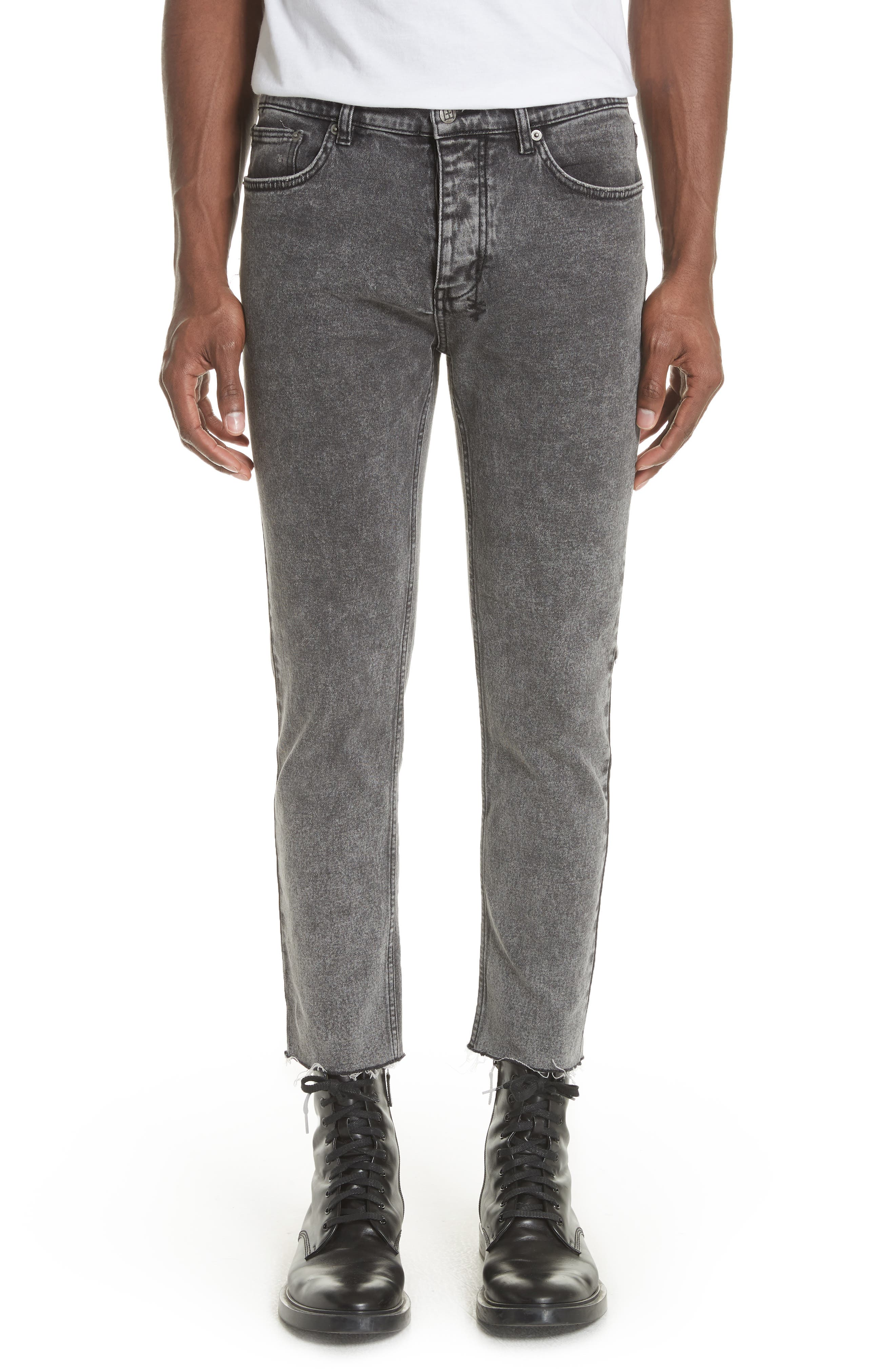 Chitch Chop Acid Attack Cropped Jeans,                         Main,                         color, BLACK