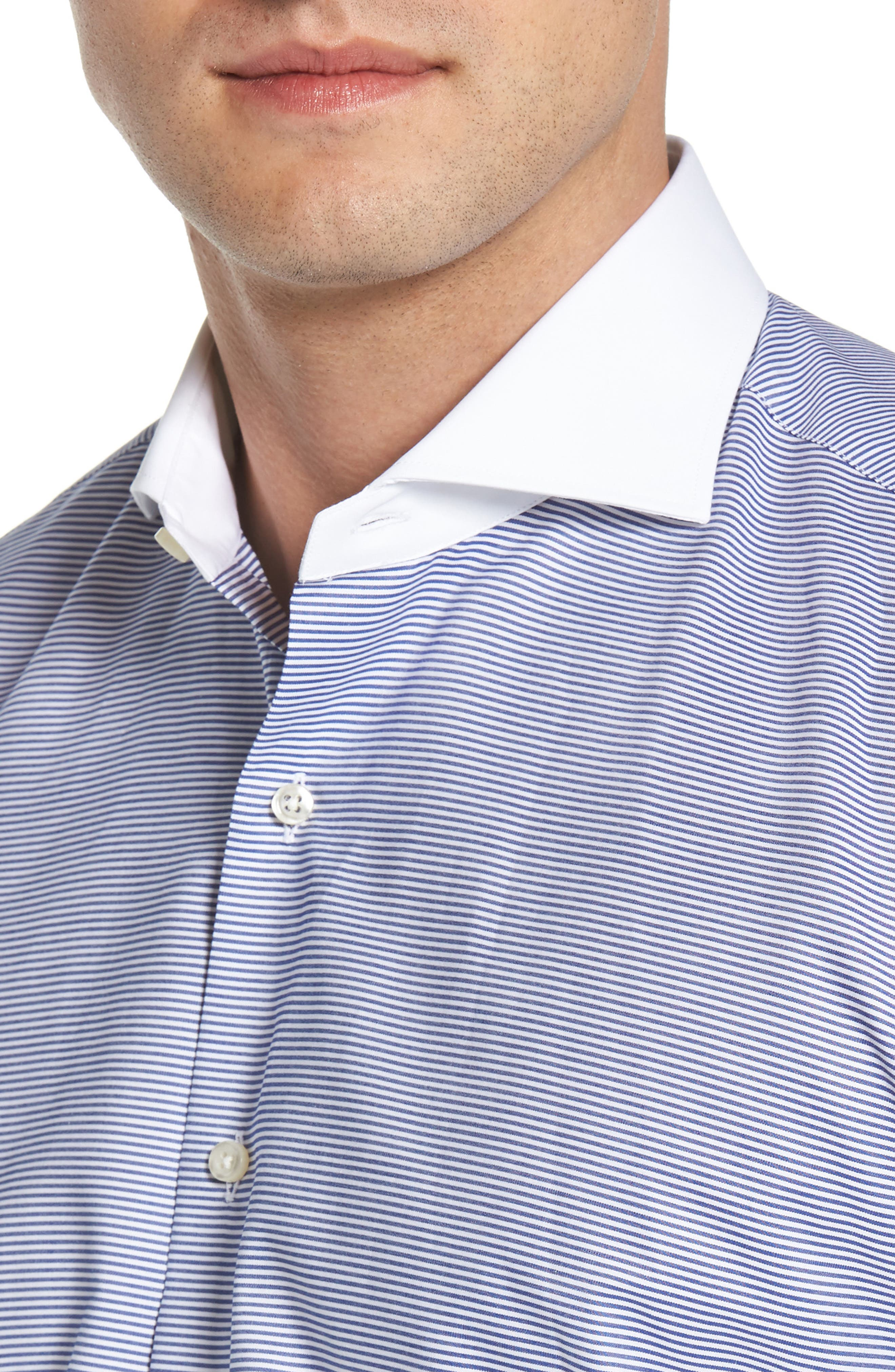 Regular Fit Stripe Dress Shirt,                             Alternate thumbnail 2, color,                             400