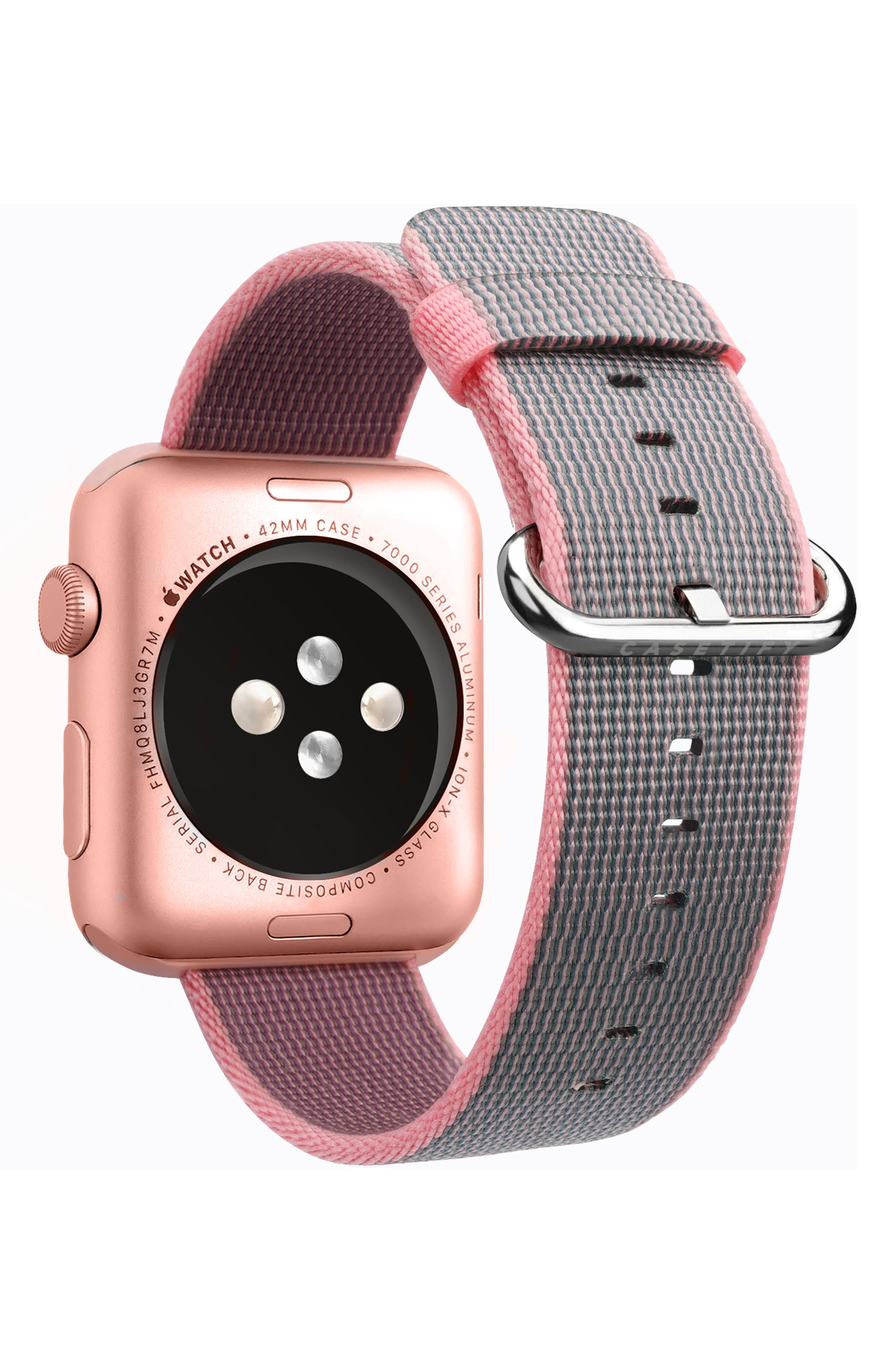 Nylon Apple Watch Strap, 38mm,                             Alternate thumbnail 8, color,