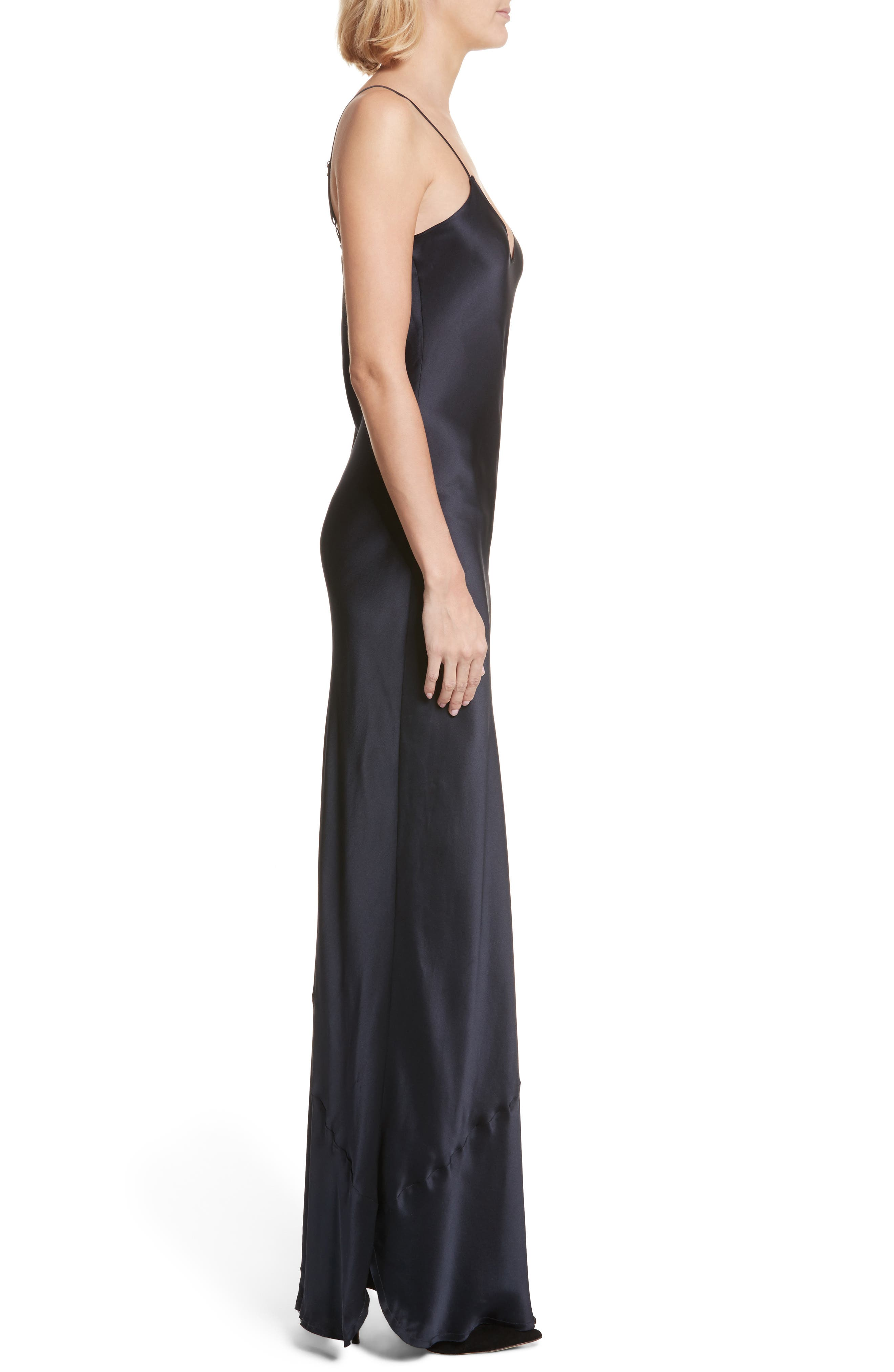 Silk Camisole Gown,                             Alternate thumbnail 3, color,                             410