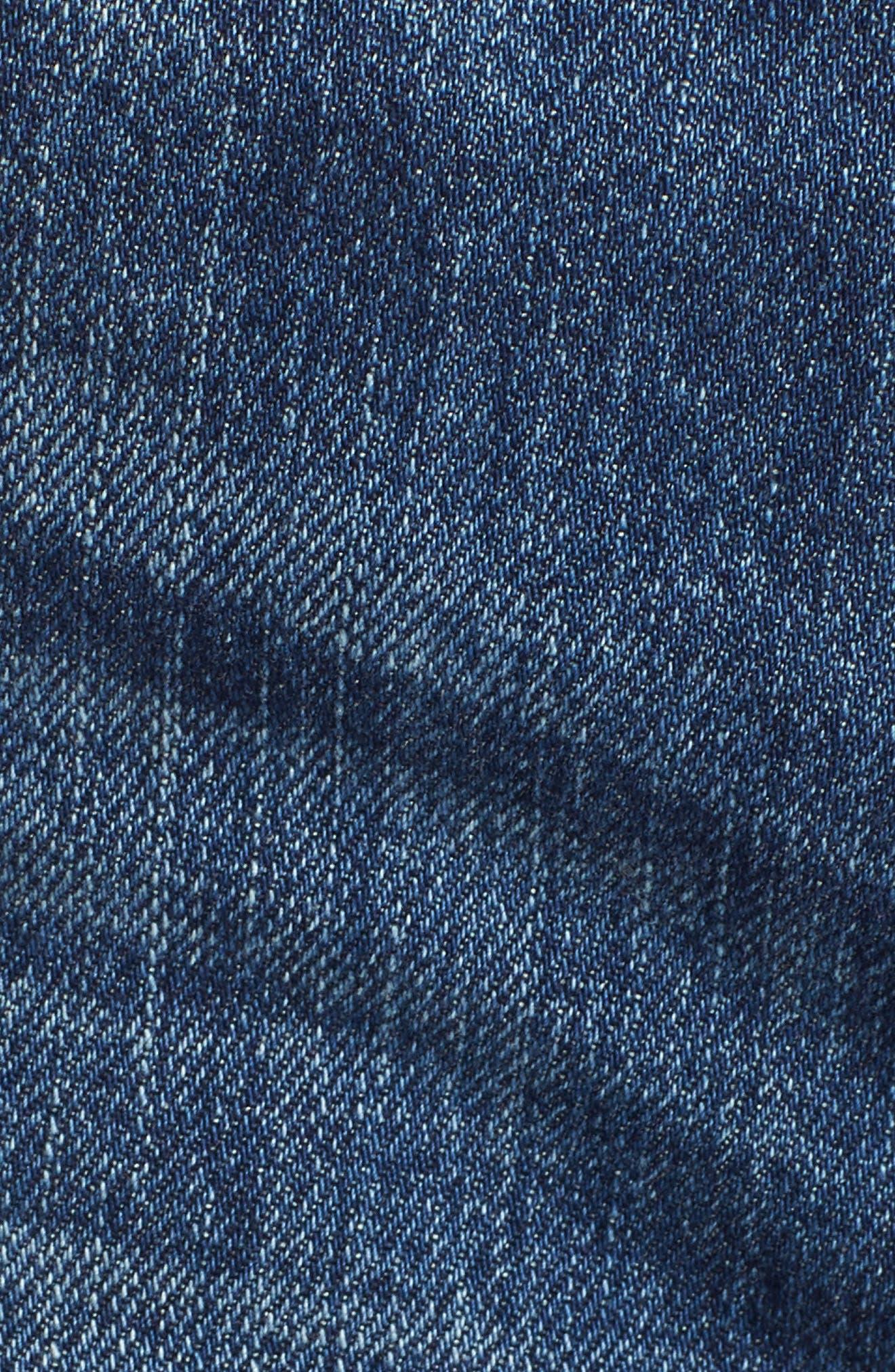 The Ozzie Roll Cuff Denim Shorts,                             Alternate thumbnail 6, color,                             450