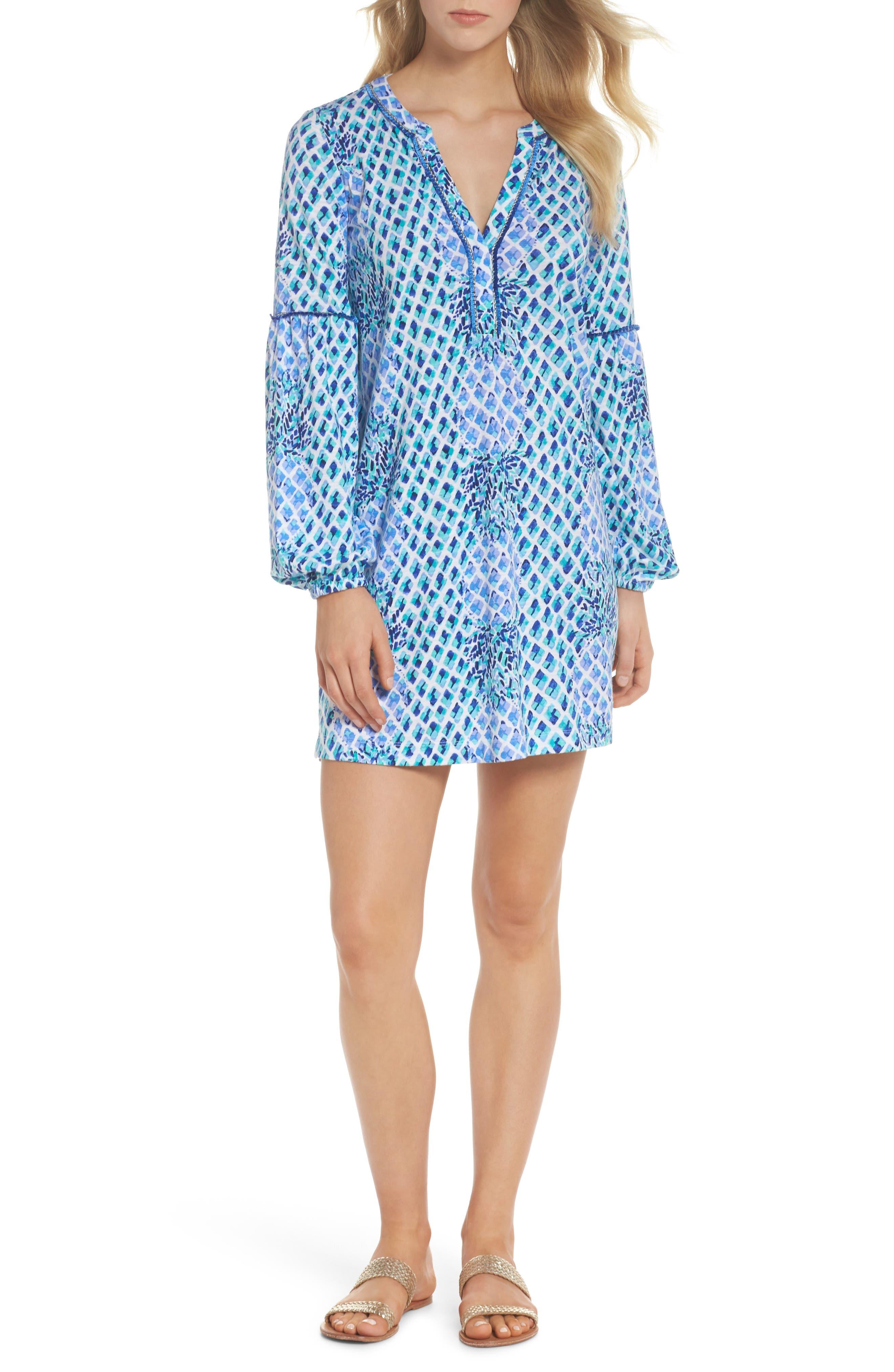 Joy Tunic Dress,                             Alternate thumbnail 5, color,                             400