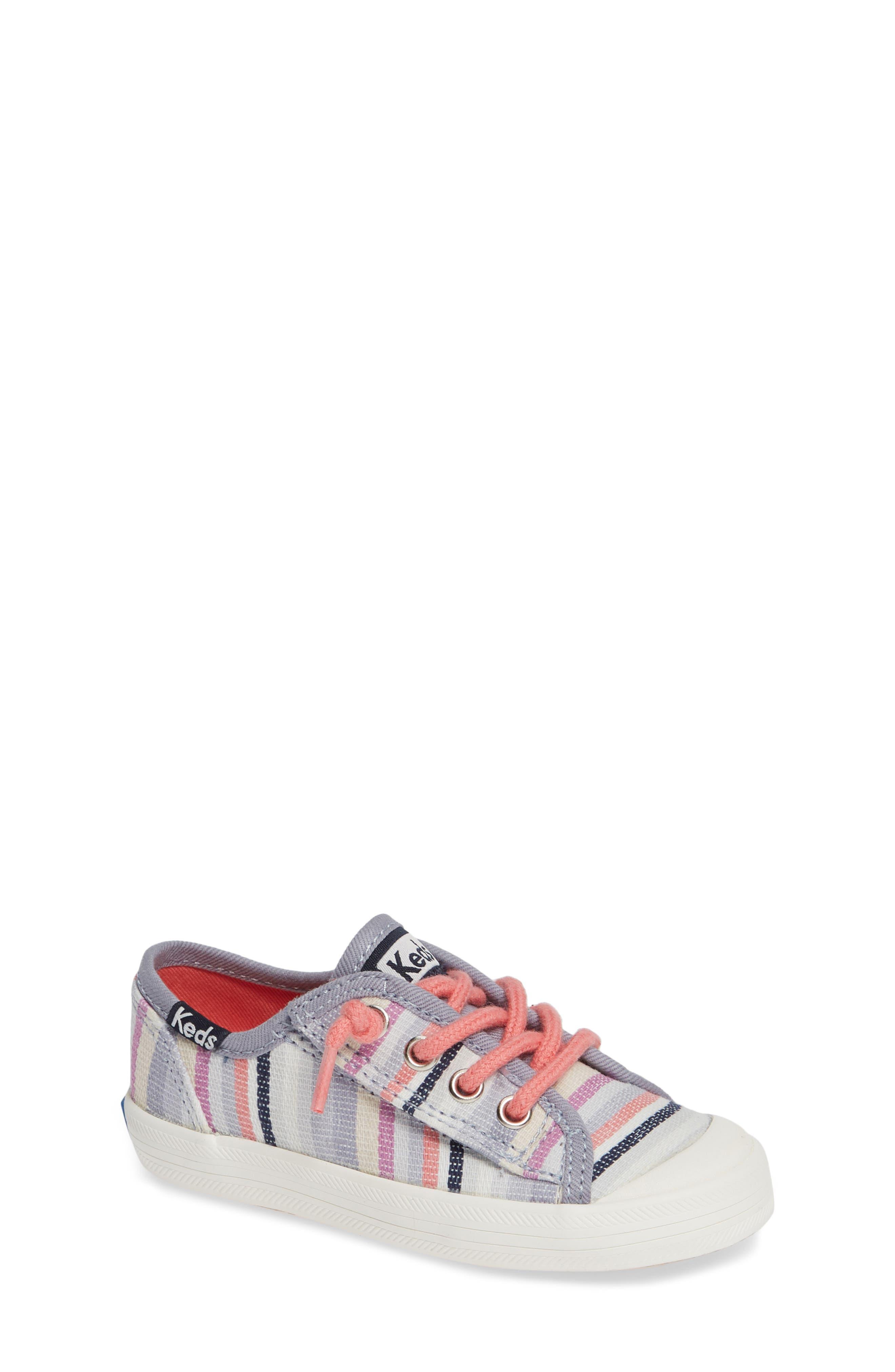 Kickstart Stripe Cap Toe Sneaker,                             Main thumbnail 1, color,                             MULTI STRIPE