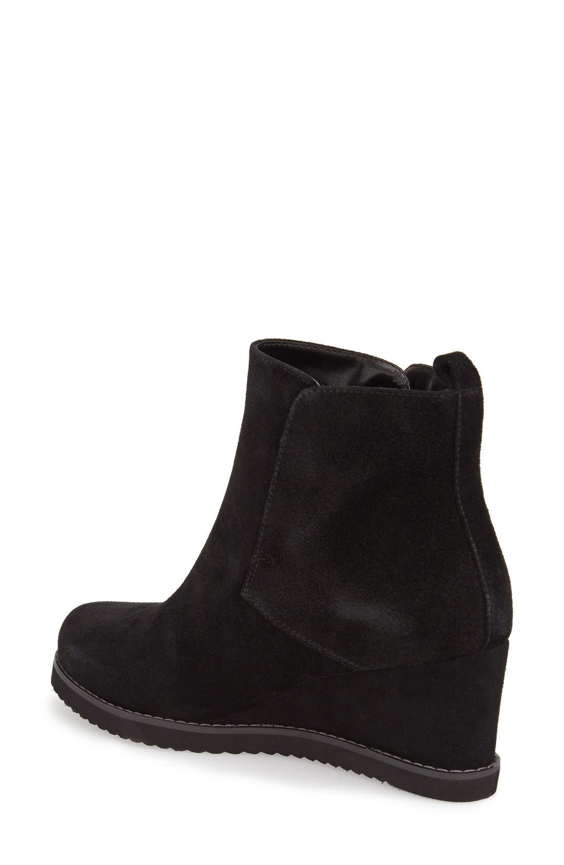 'Karla' Waterproof Wedge Bootie,                             Alternate thumbnail 4, color,