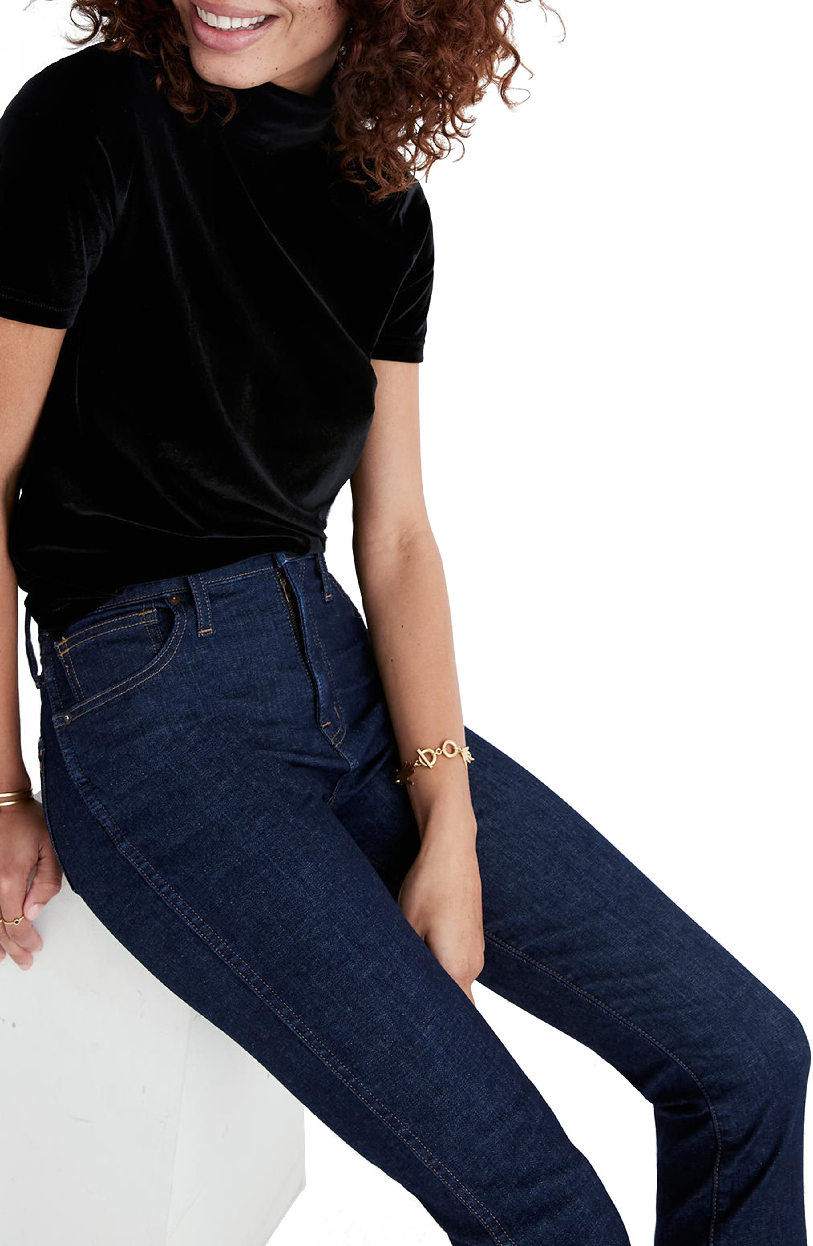10-Inch High Waist Skinny Jeans,                             Alternate thumbnail 3, color,                             LUCILLE