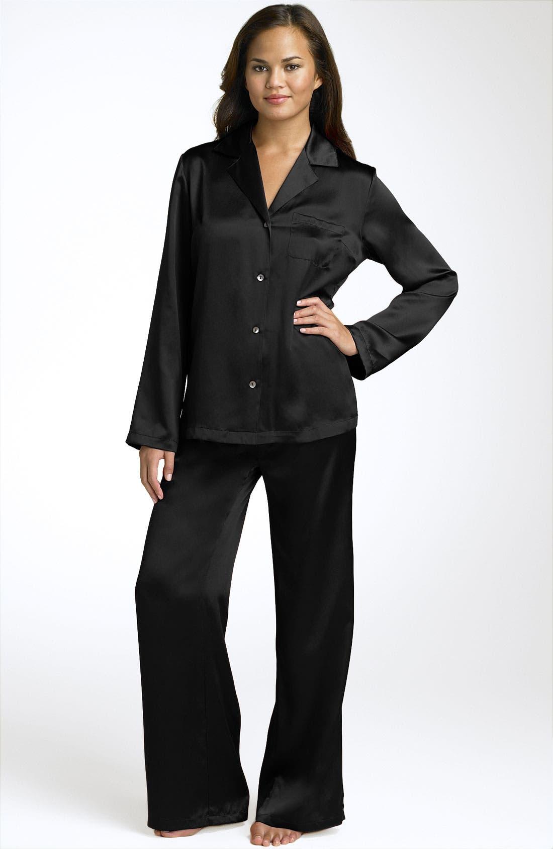 Silk Pajamas,                             Main thumbnail 1, color,                             001