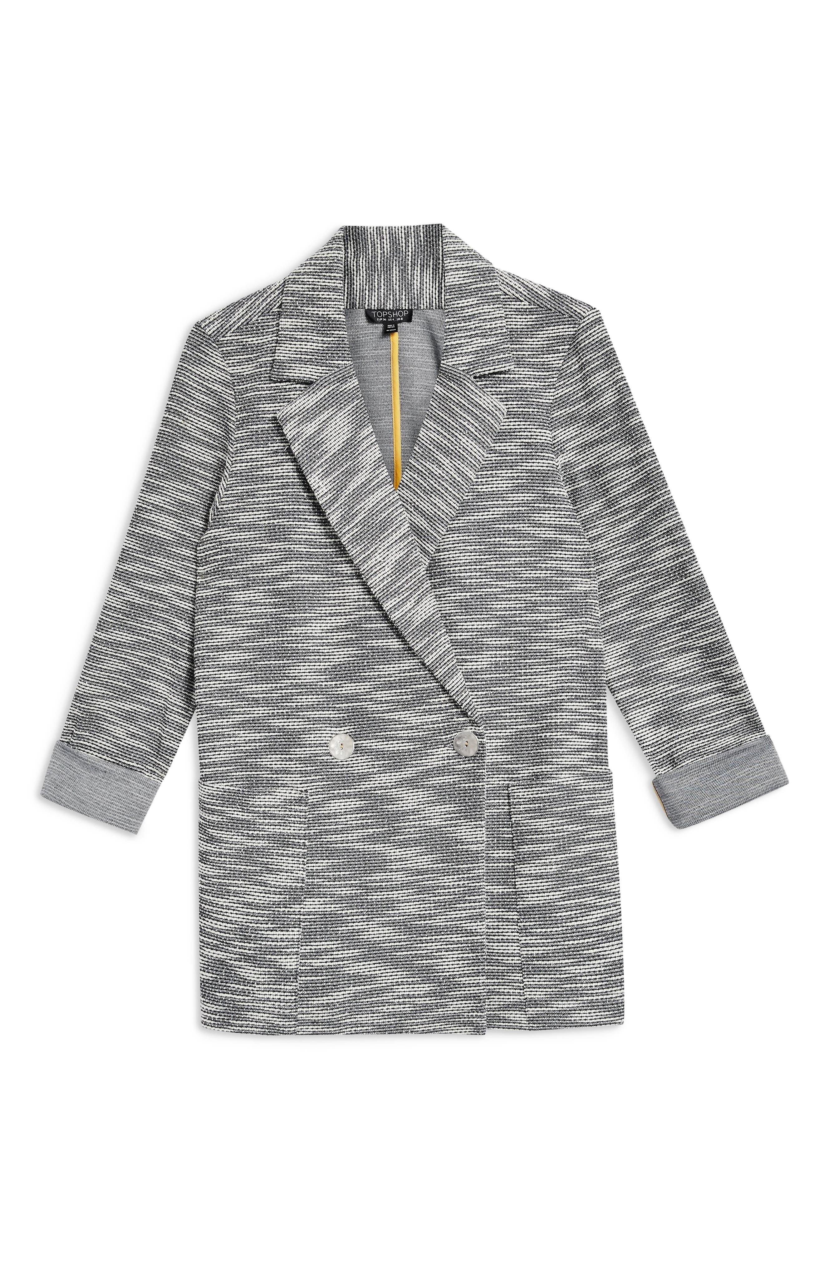 Bouclé Button Jacket,                             Alternate thumbnail 3, color,                             GREY