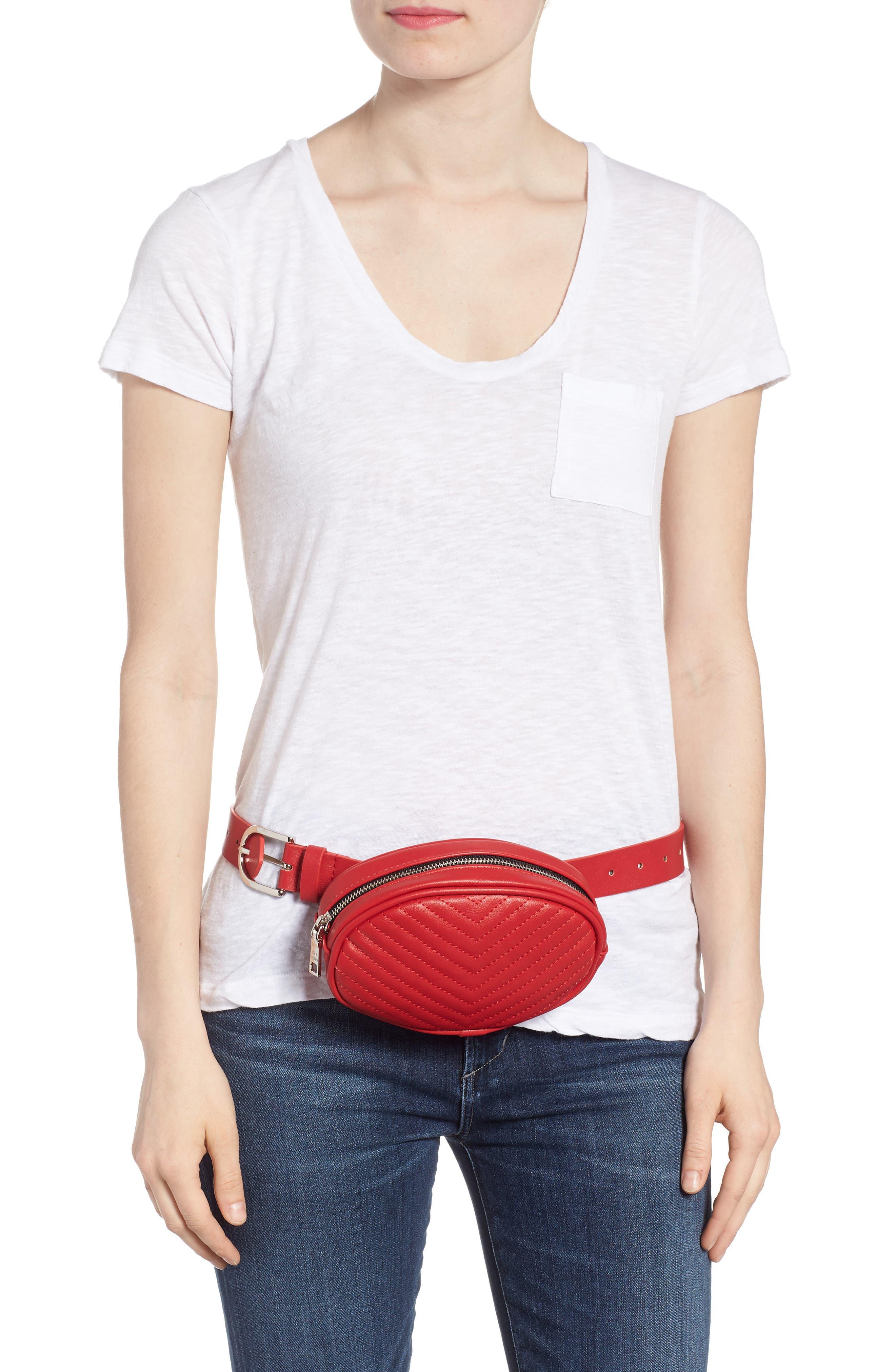 Quilted Belt Bag,                             Alternate thumbnail 4, color,