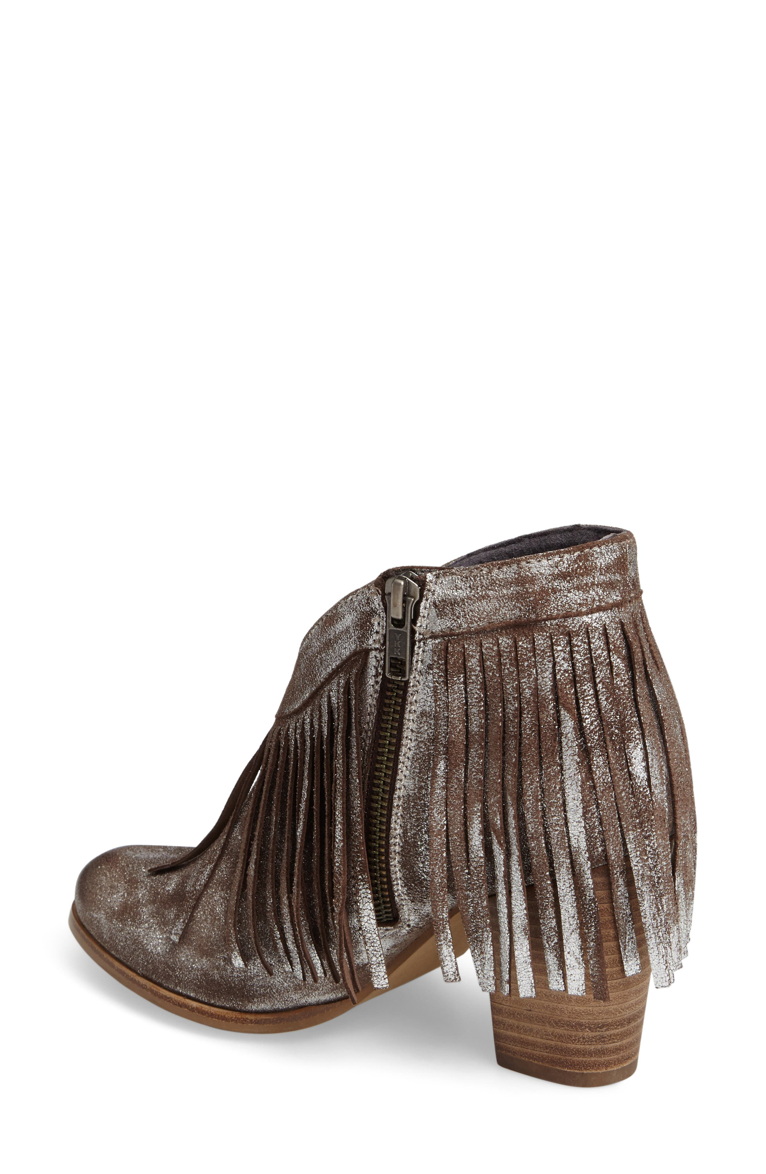 Unbridled Layla Fringed Bootie,                             Alternate thumbnail 2, color,                             040