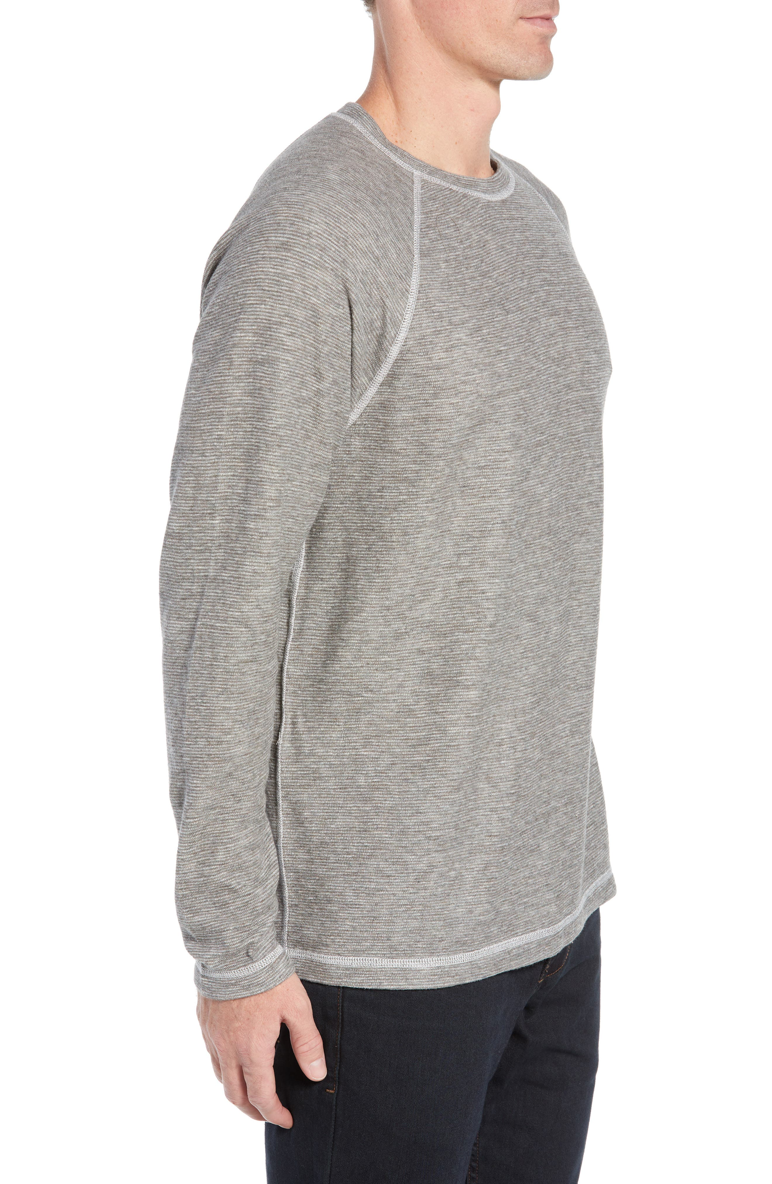 Fortuna Flip Regular Fit Shirt,                             Alternate thumbnail 4, color,                             TAUPE HEATHER