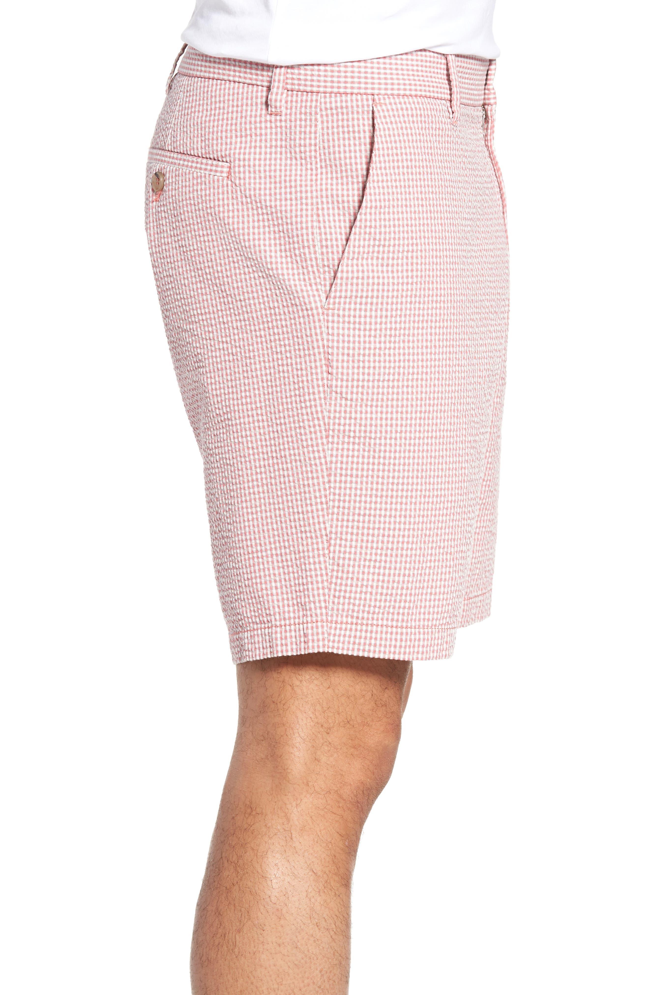 Fringe Check Seersucker Shorts,                             Alternate thumbnail 6, color,