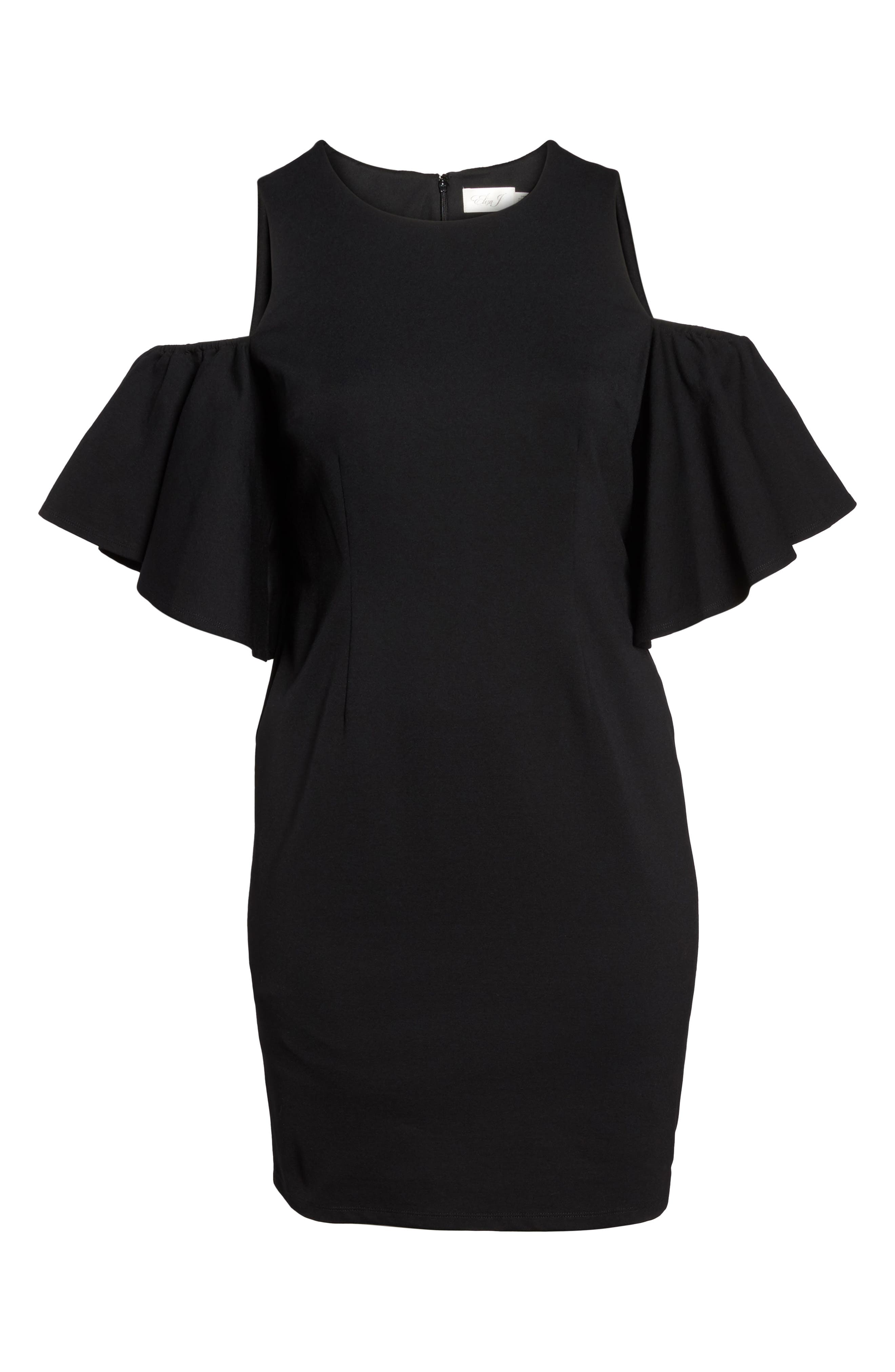 Cold Shoulder Sheath Dress,                             Alternate thumbnail 6, color,