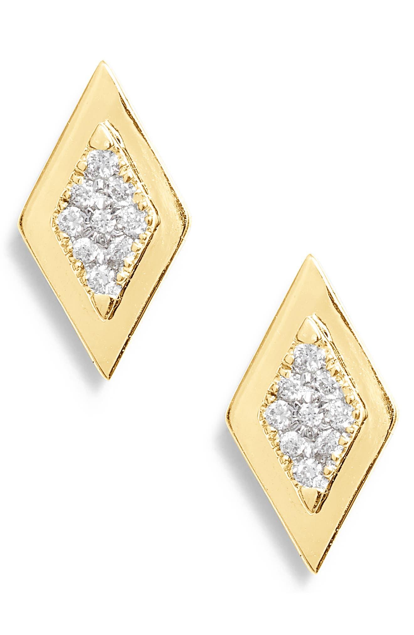 DANA REBECCA DESIGNS,                             Dana Rebecca Lisa Michelle Multi Diamond Stud Earrings,                             Main thumbnail 1, color,                             710