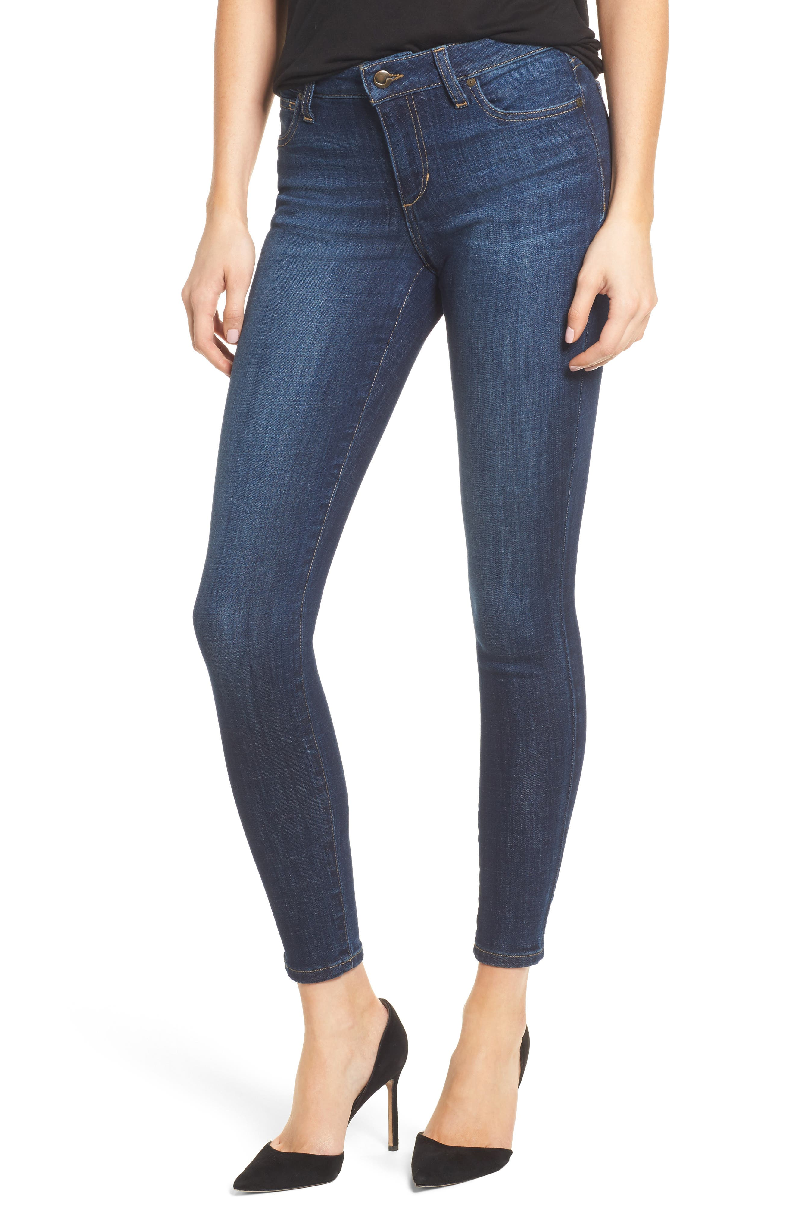 Flawless - Icon Skinny Ankle Jeans,                         Main,                         color, 400