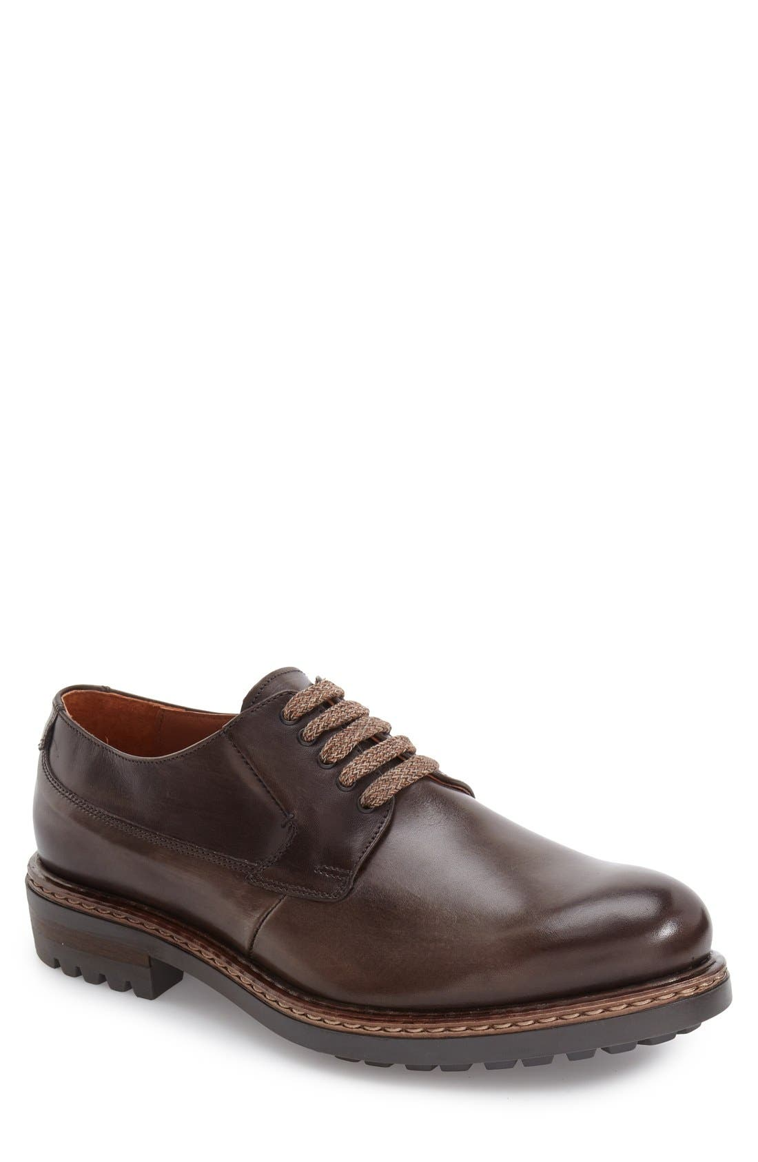 Front-Runner Plain Toe Derby,                             Main thumbnail 1, color,                             020
