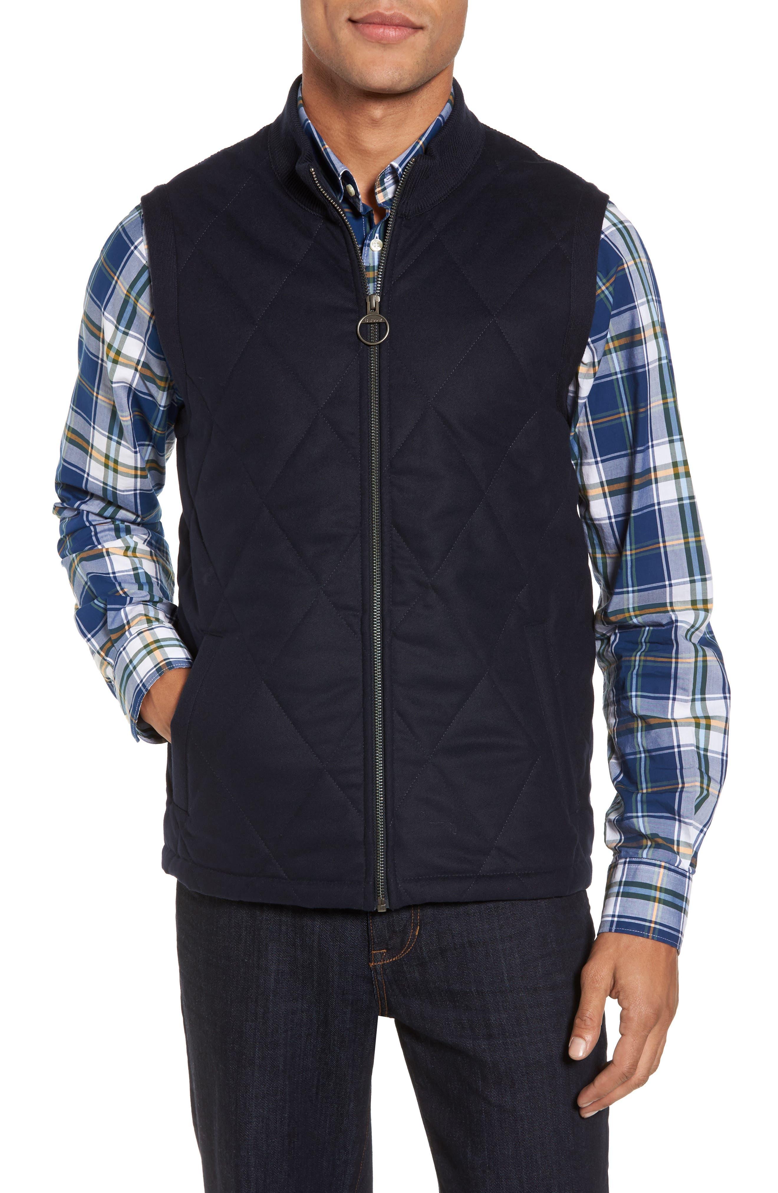 Barra Mixed Media Vest,                         Main,                         color, 410
