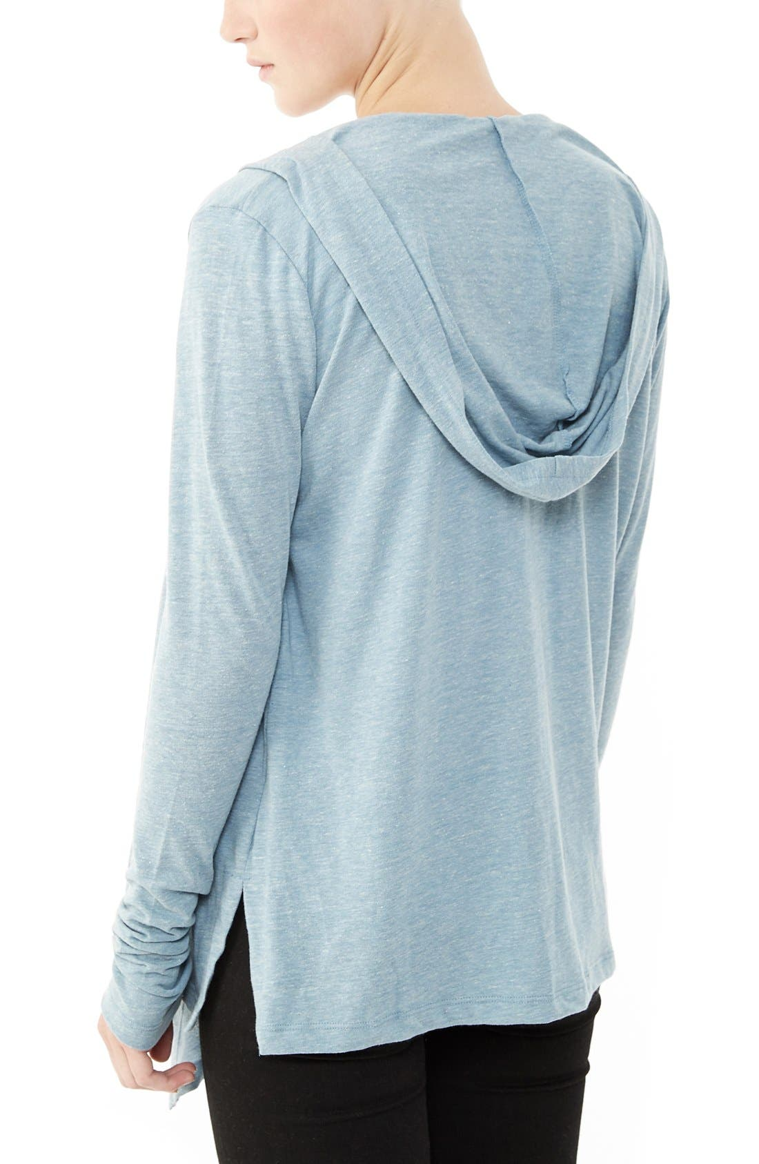 Hooded Jersey Wrap,                             Alternate thumbnail 9, color,