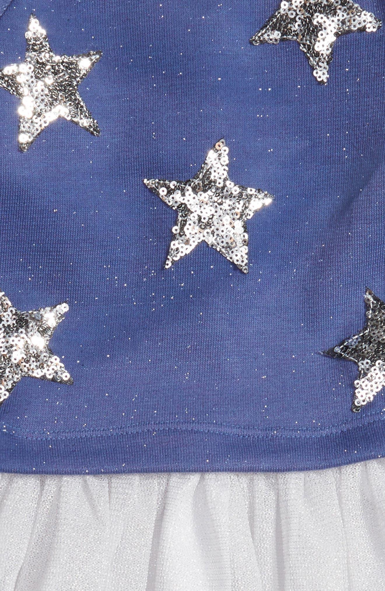 Stars Embellished Dress,                             Alternate thumbnail 3, color,                             415