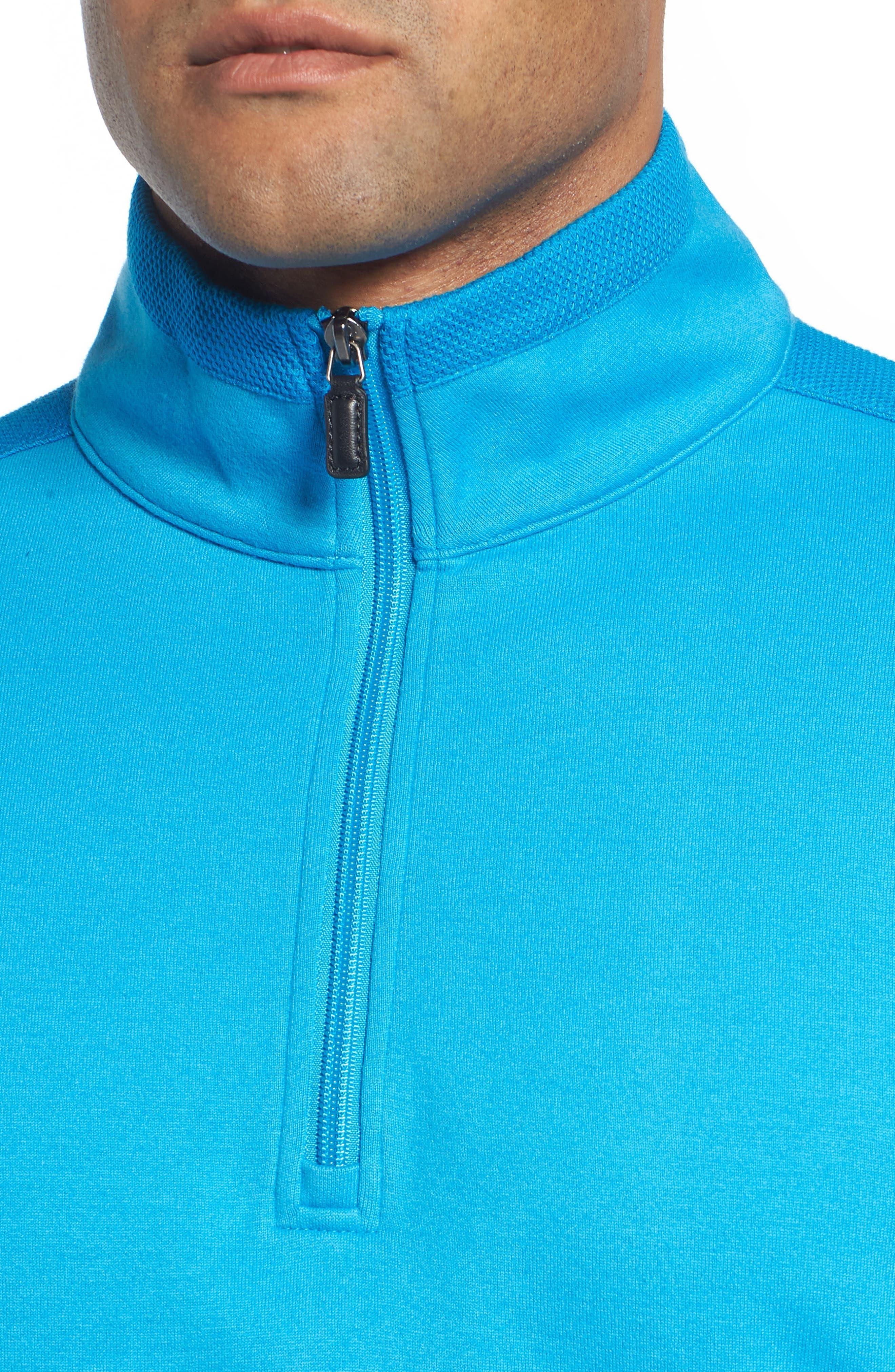 Regular Fit Knit Quarter Zip Pullover,                             Alternate thumbnail 15, color,