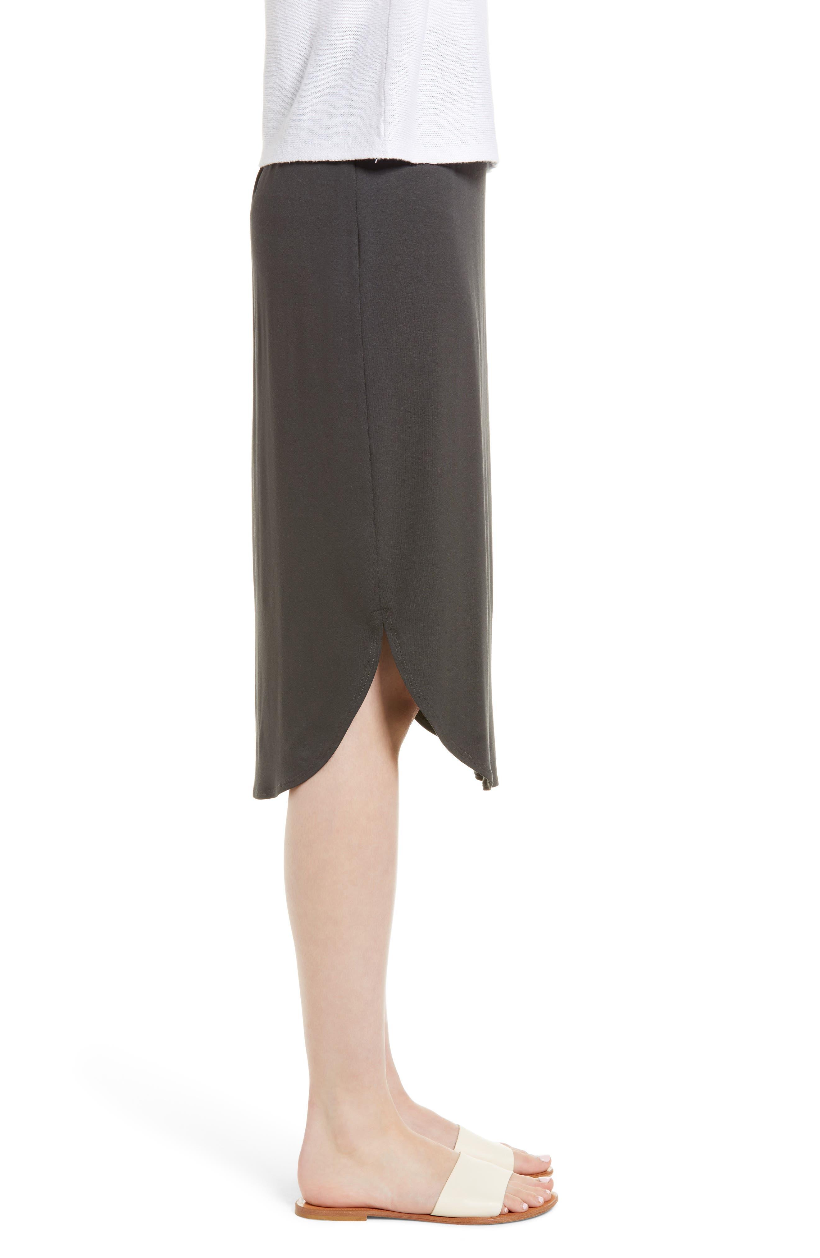 Jersey Shirttail Hem Skirt,                             Alternate thumbnail 3, color,                             025