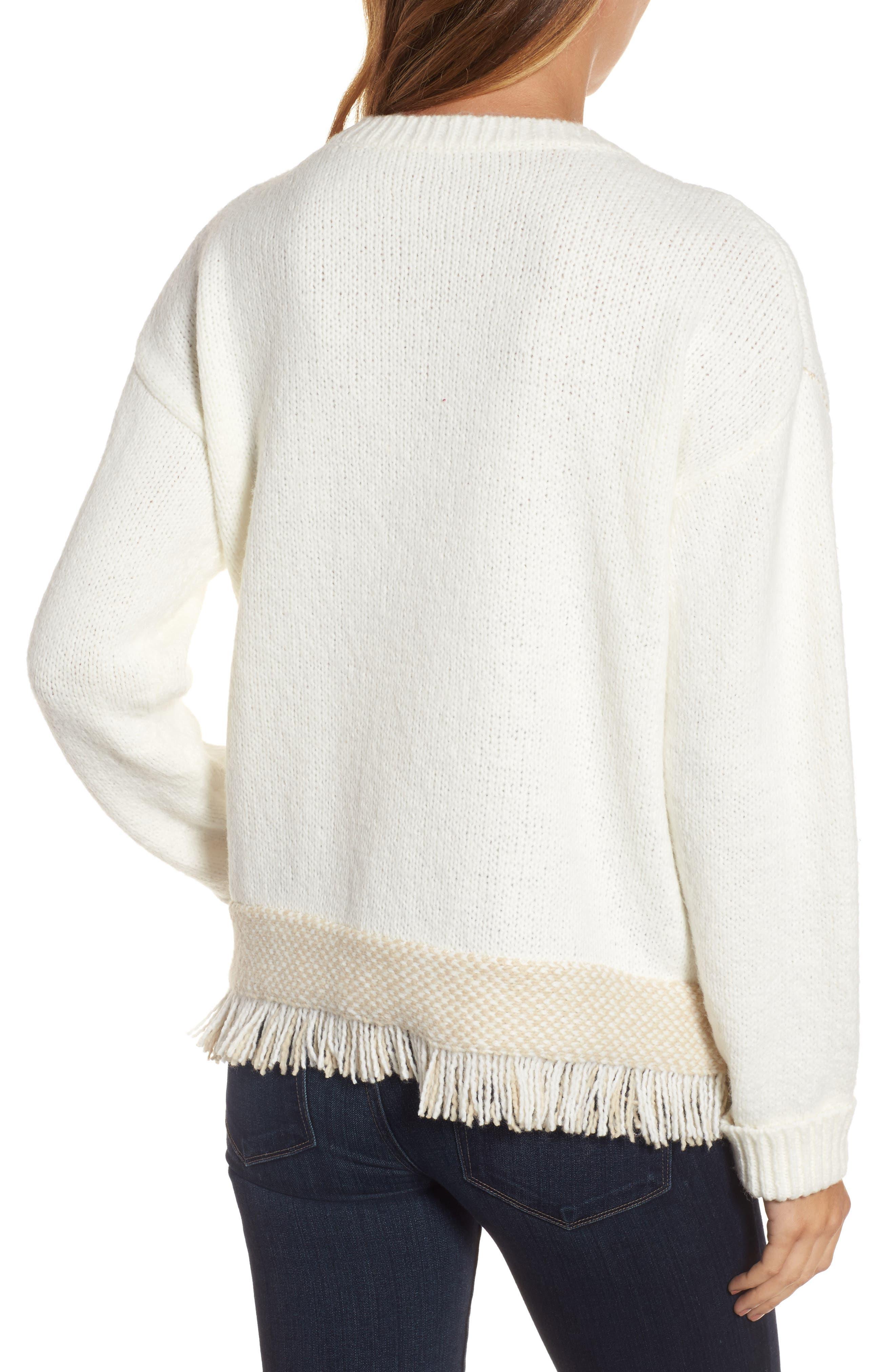 Fringe Sweater,                             Alternate thumbnail 8, color,