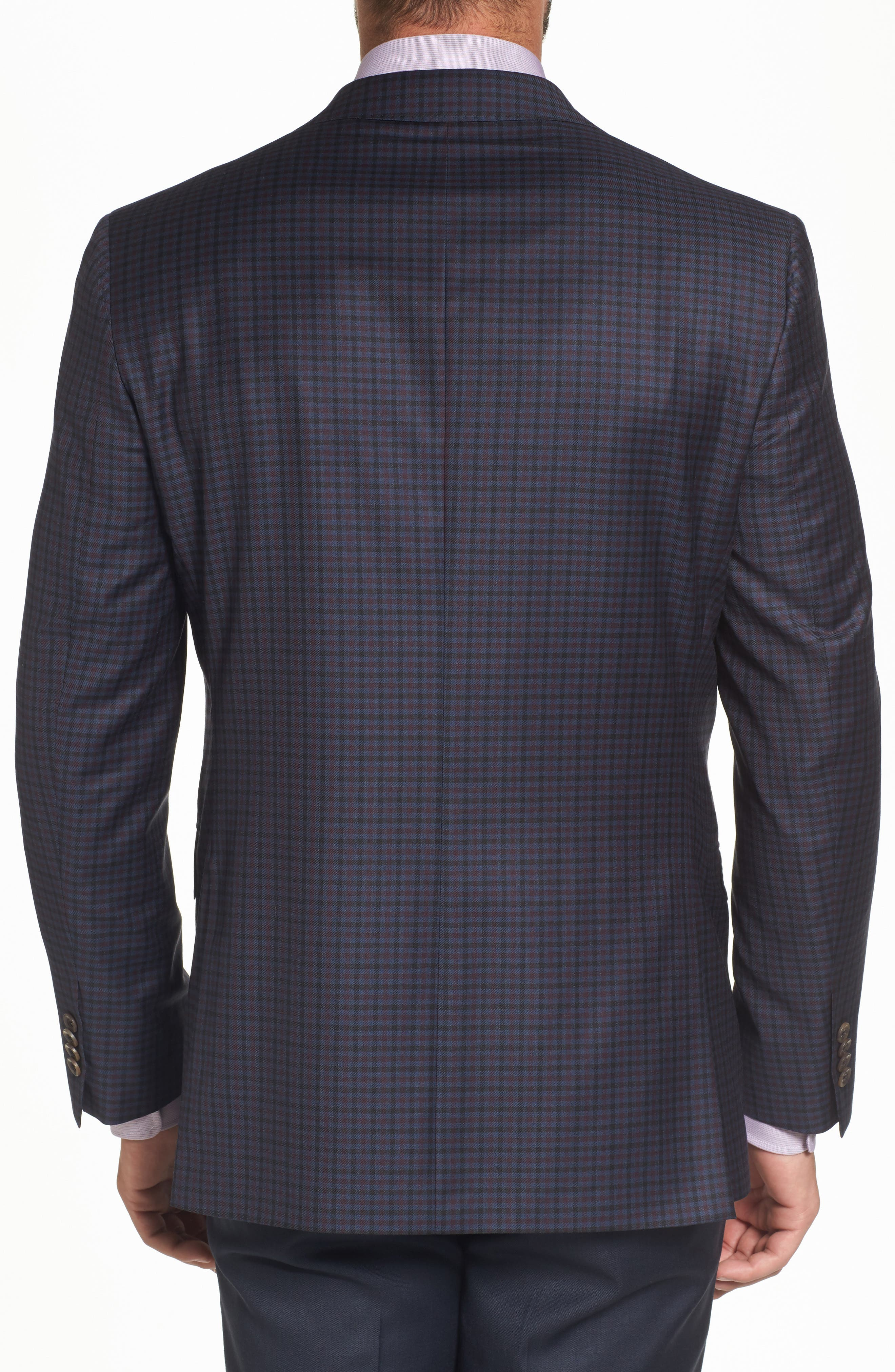 Connor Classic Fit Check Wool Sport Coat,                             Alternate thumbnail 2, color,                             400