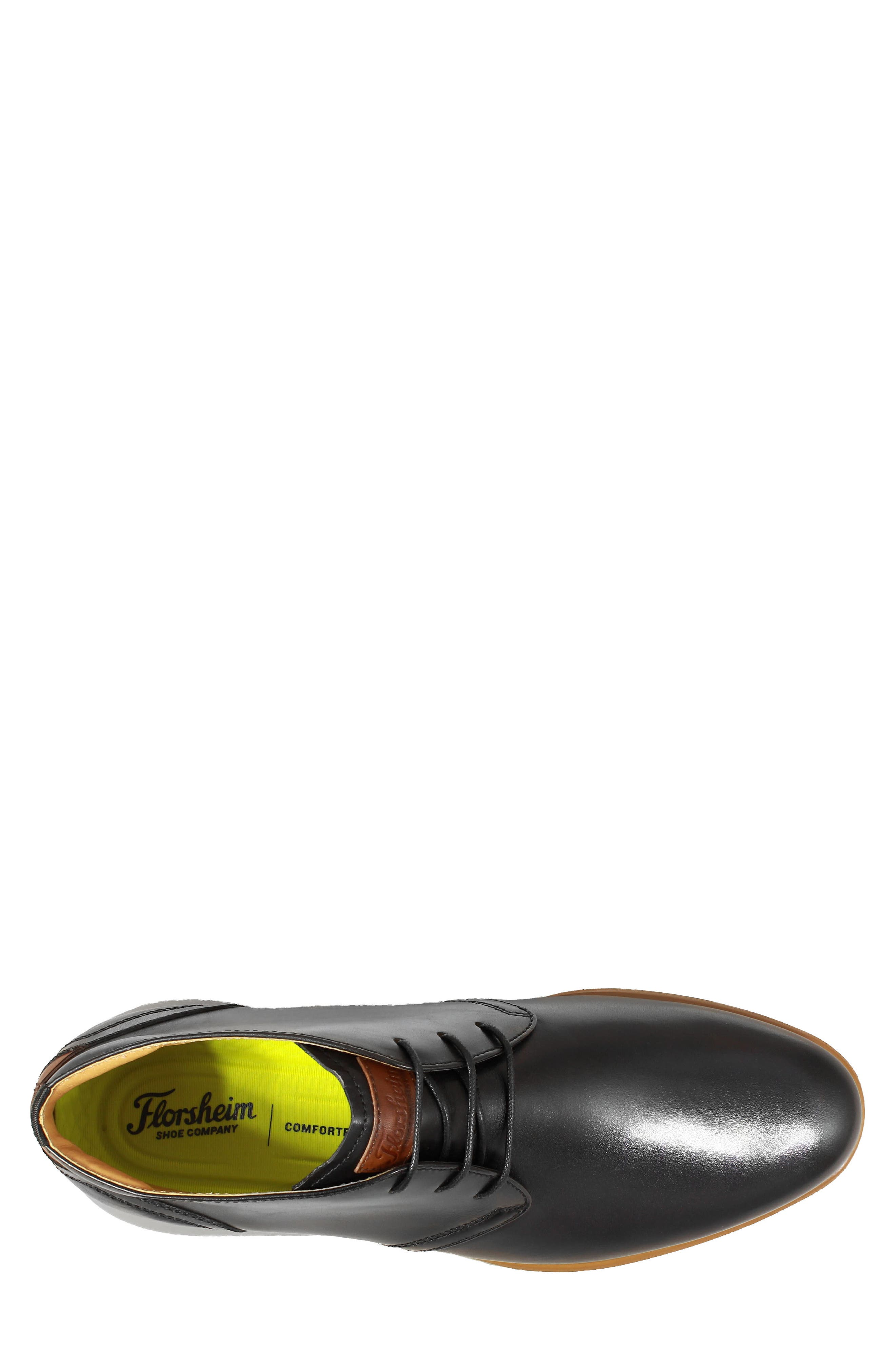 FLORSHEIM,                             Fuel Chukka Boot,                             Alternate thumbnail 5, color,                             BLACK LEATHER