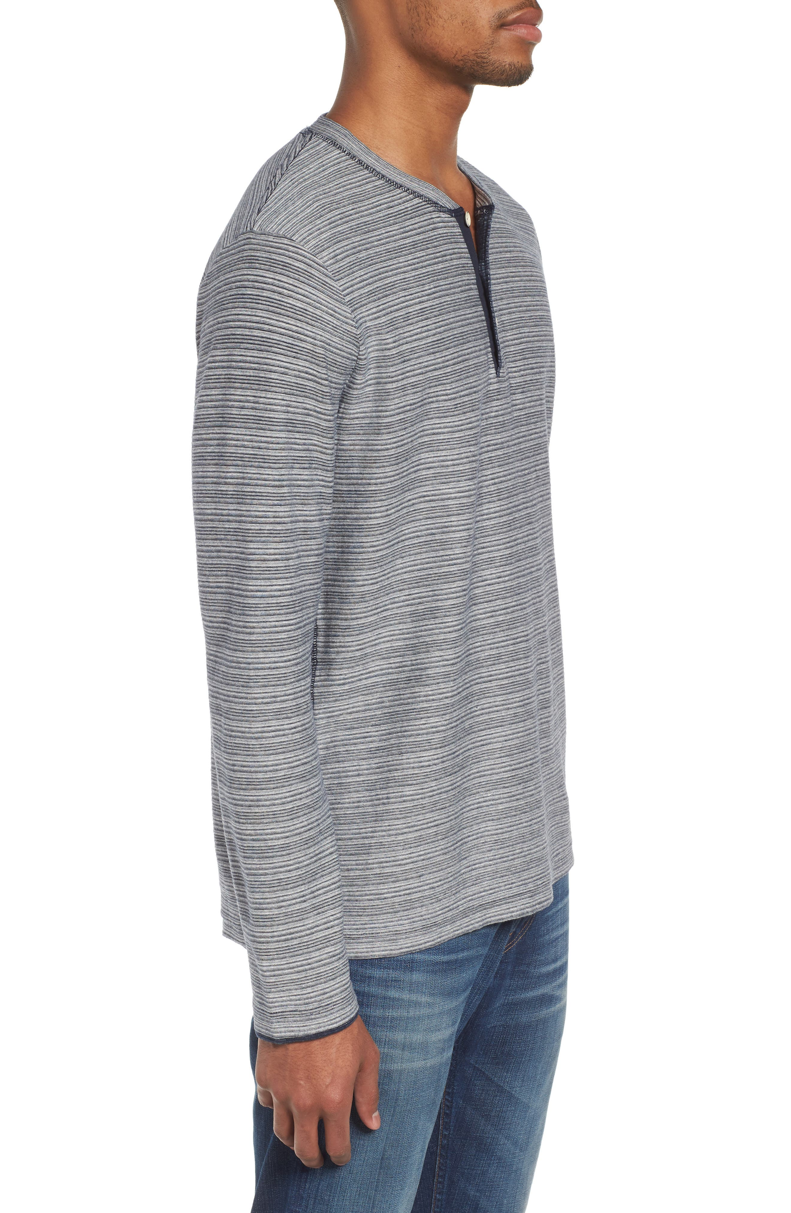 Slim Centre Island Henley,                             Alternate thumbnail 3, color,                             442