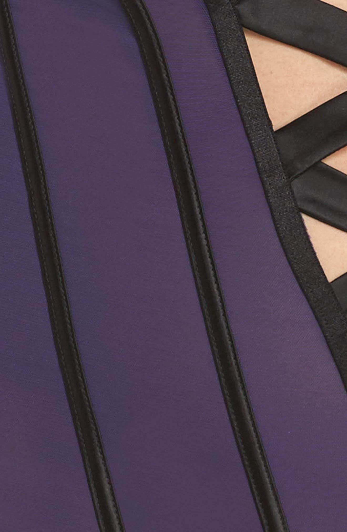 Ines Crisscross Plunge Bodysuit,                             Alternate thumbnail 4, color,                             400