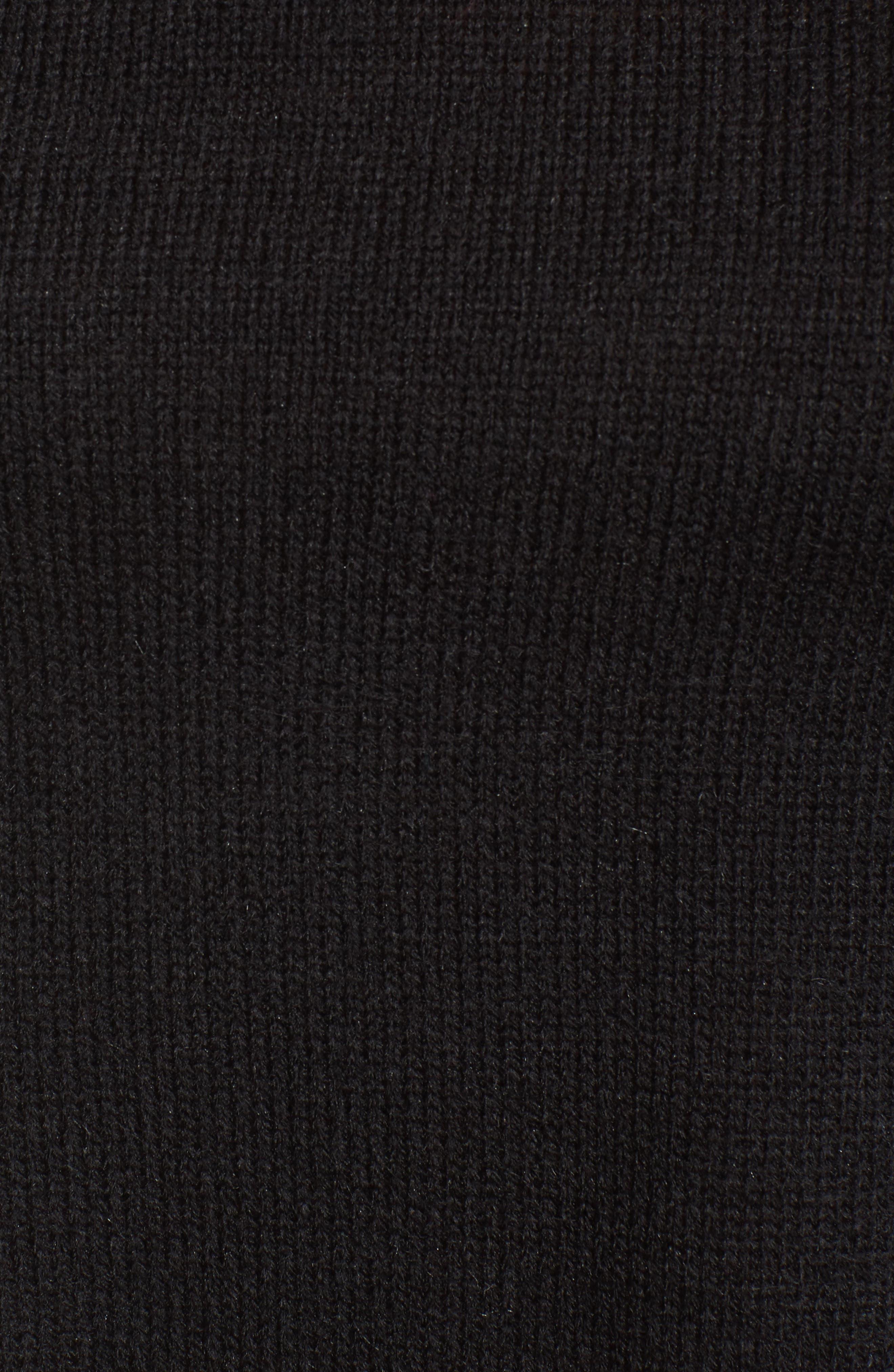 Imitation Pearl & Ruffle Trim Sweater,                             Alternate thumbnail 5, color,                             001