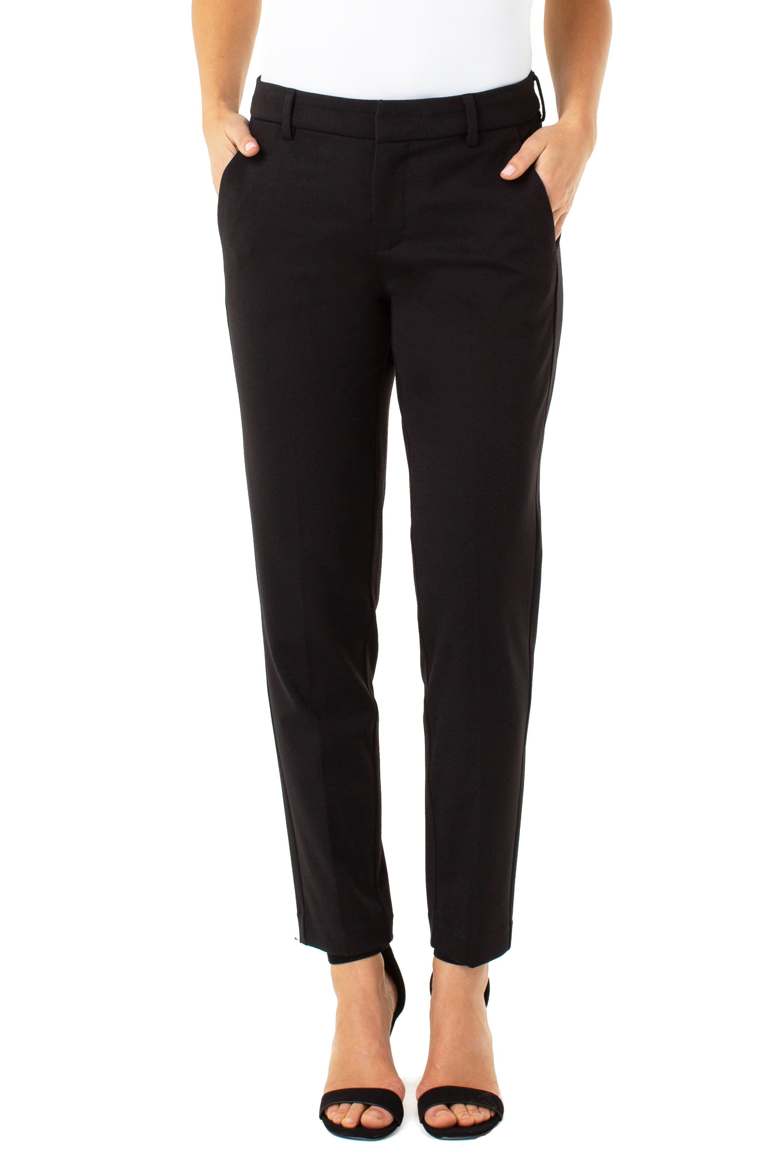 LIVERPOOL,                             Kelsey Knit Trousers,                             Main thumbnail 1, color,                             001
