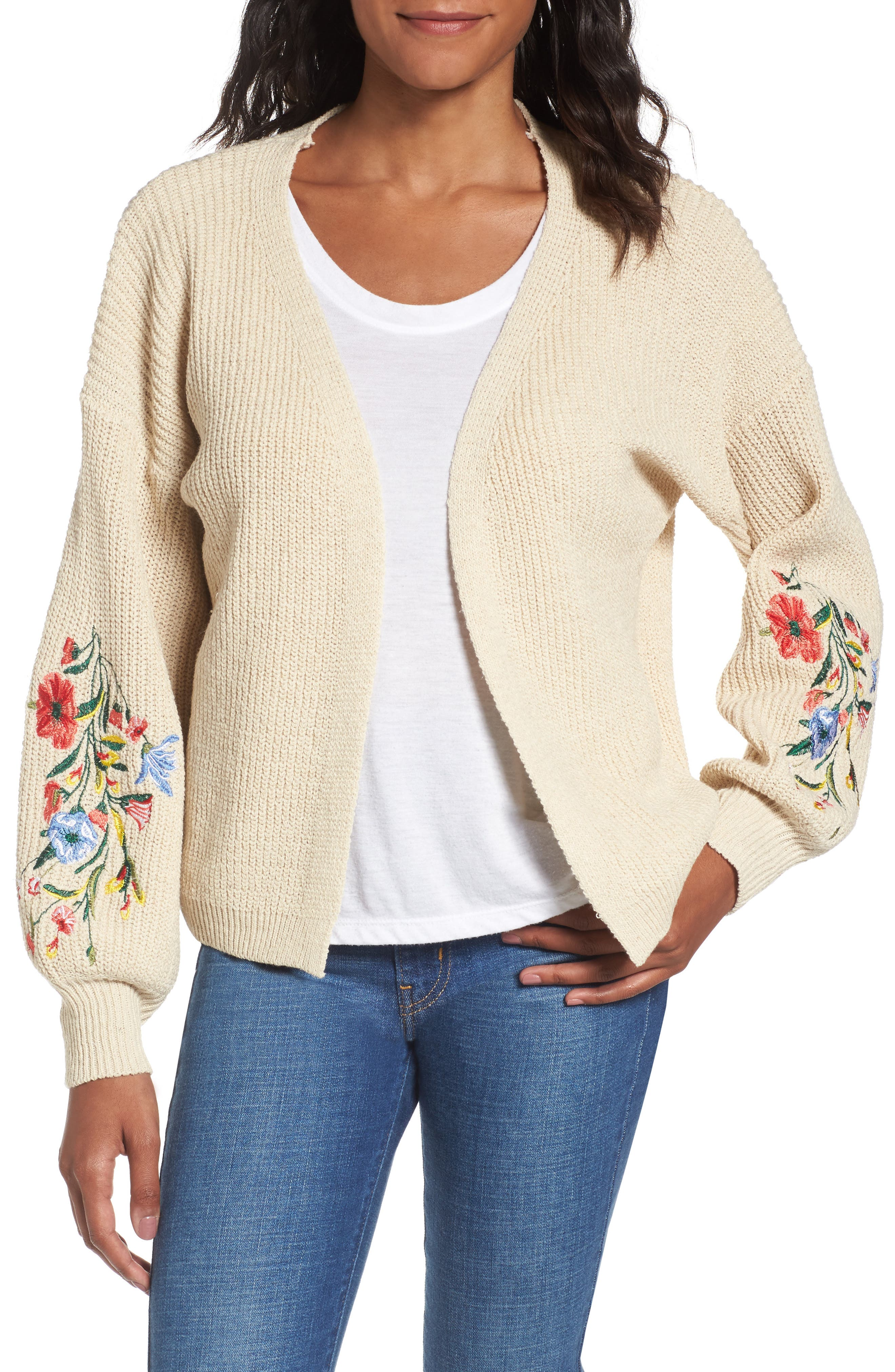Embroidered Cardigan,                             Main thumbnail 1, color,                             250
