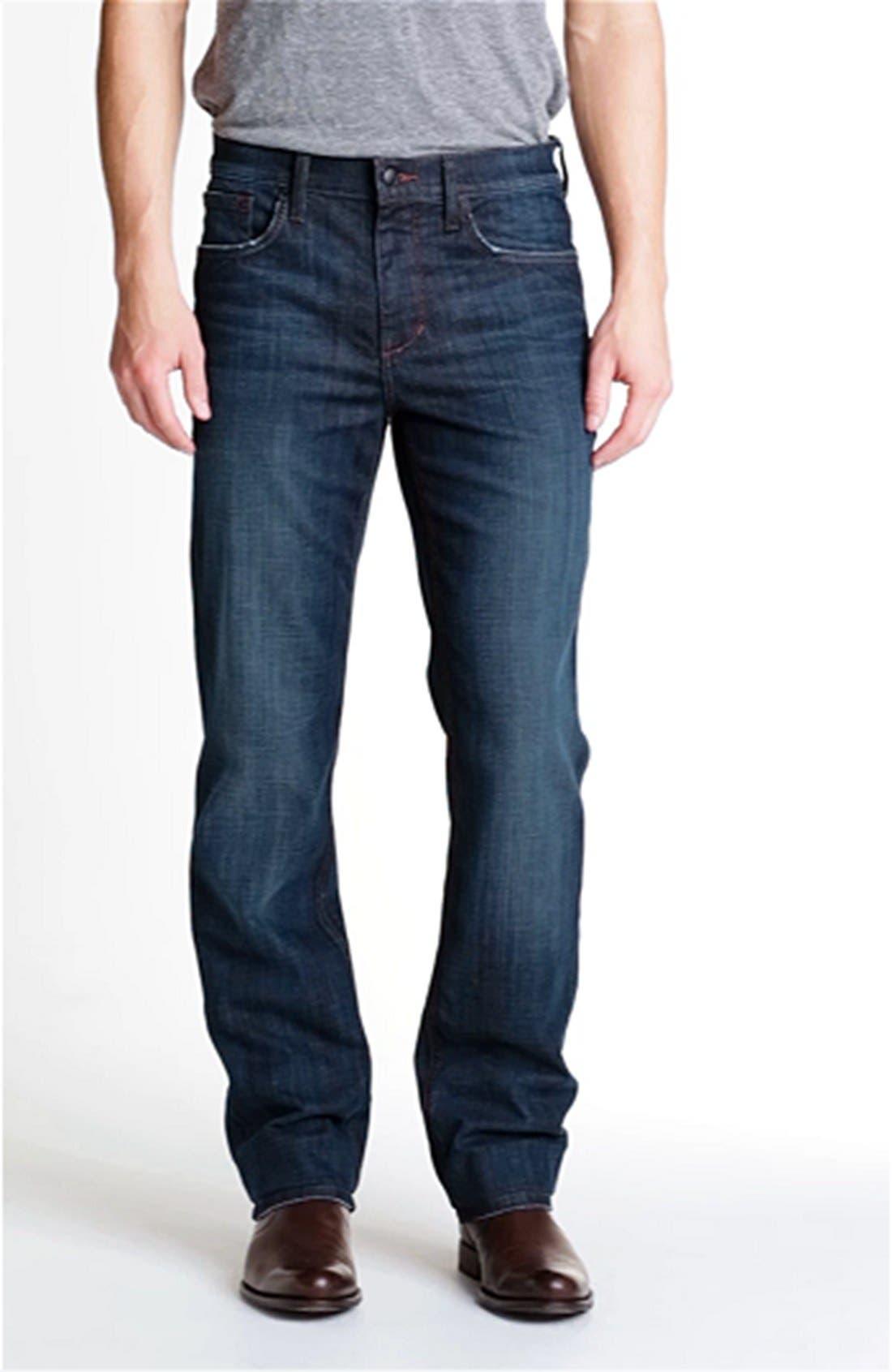'Classic' Straight Leg Jeans,                             Alternate thumbnail 3, color,                             403