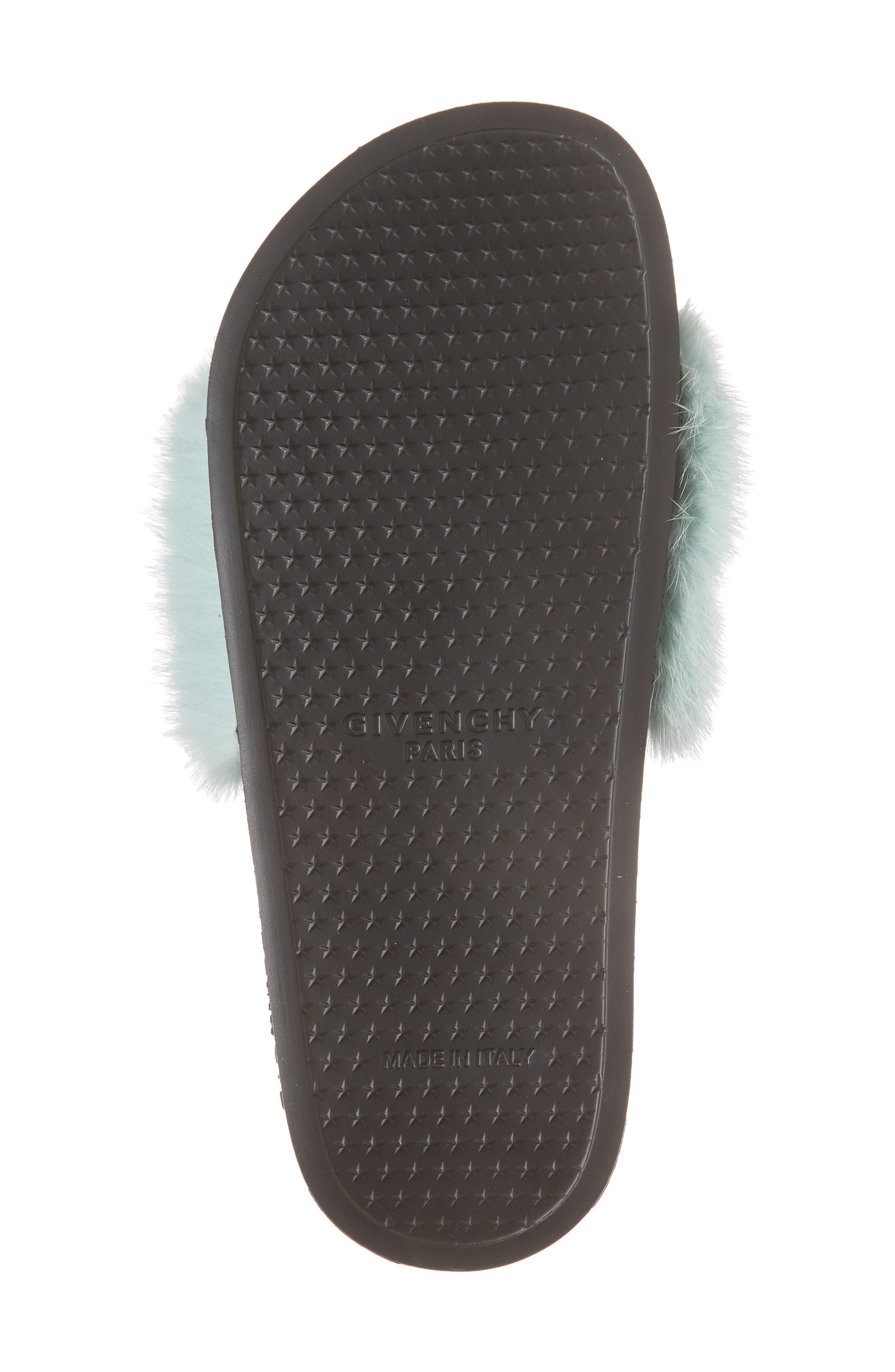 Genuine Mink Fur Slide Sandal,                             Alternate thumbnail 6, color,                             423