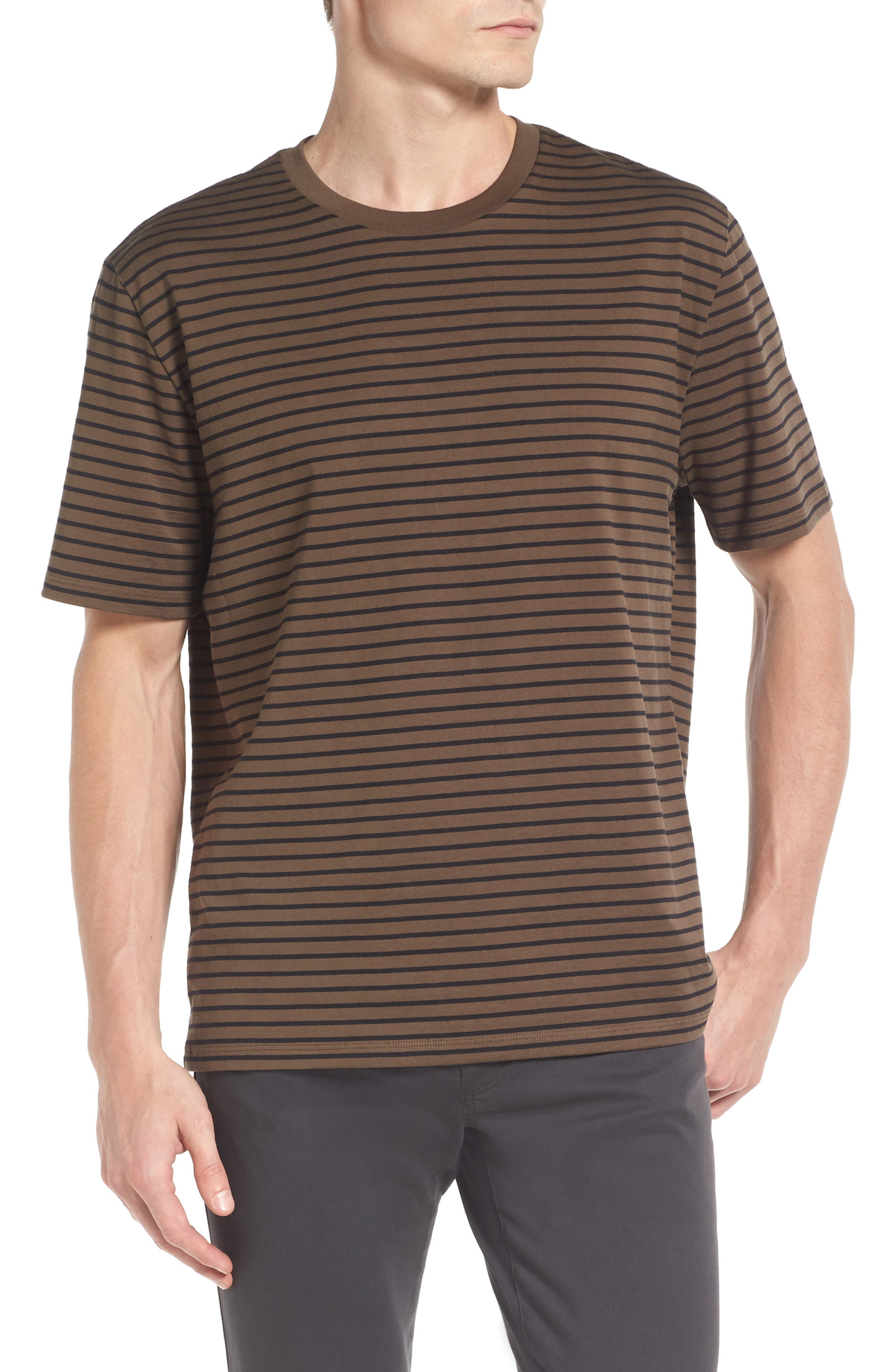Narrow Stripe Pima Cotton T-Shirt,                             Main thumbnail 1, color,                             245