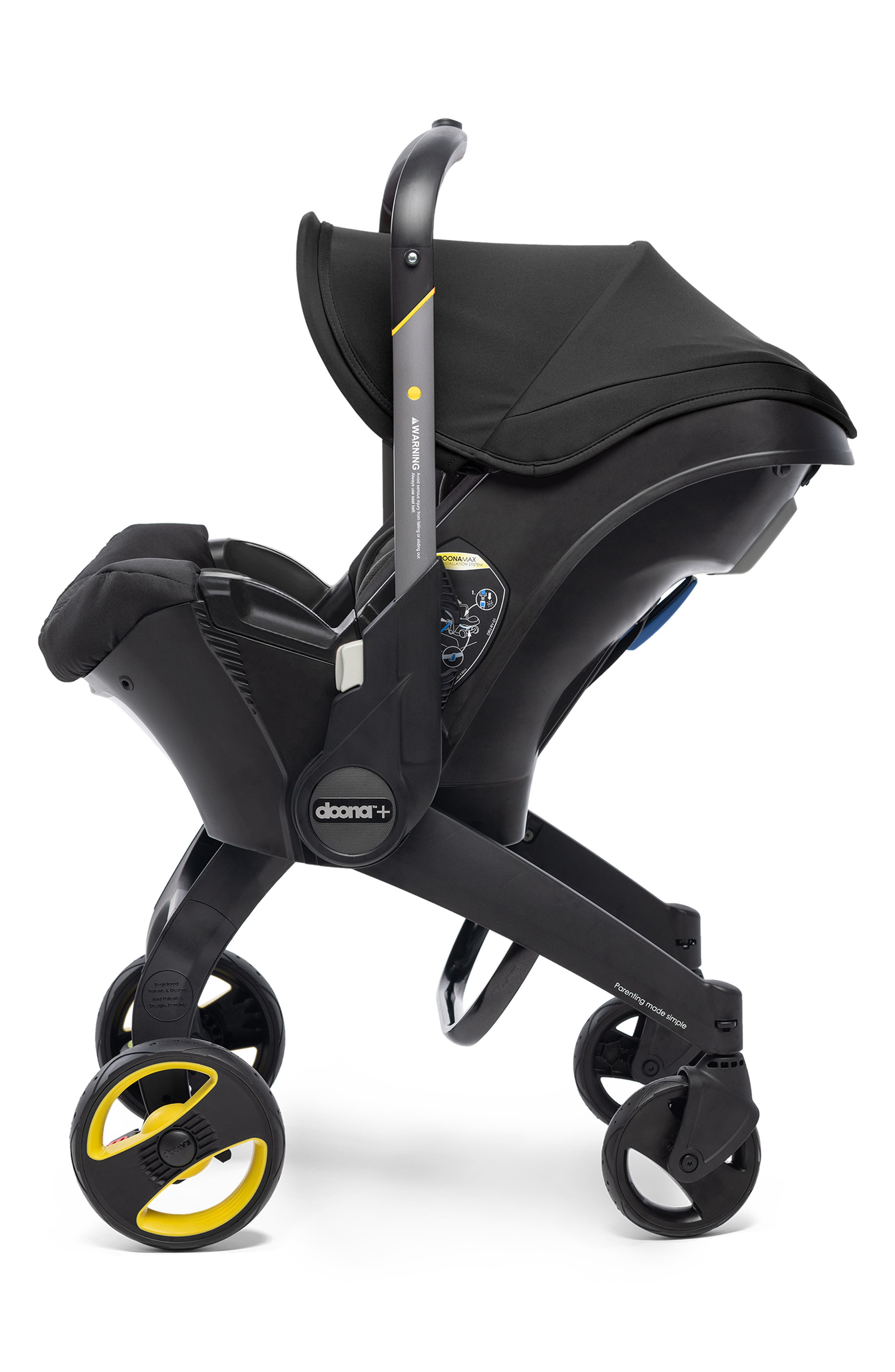 Convertible Infant Car Seat/Compact Stroller System with Base,                             Alternate thumbnail 6, color,                             BLACK/NIGHT