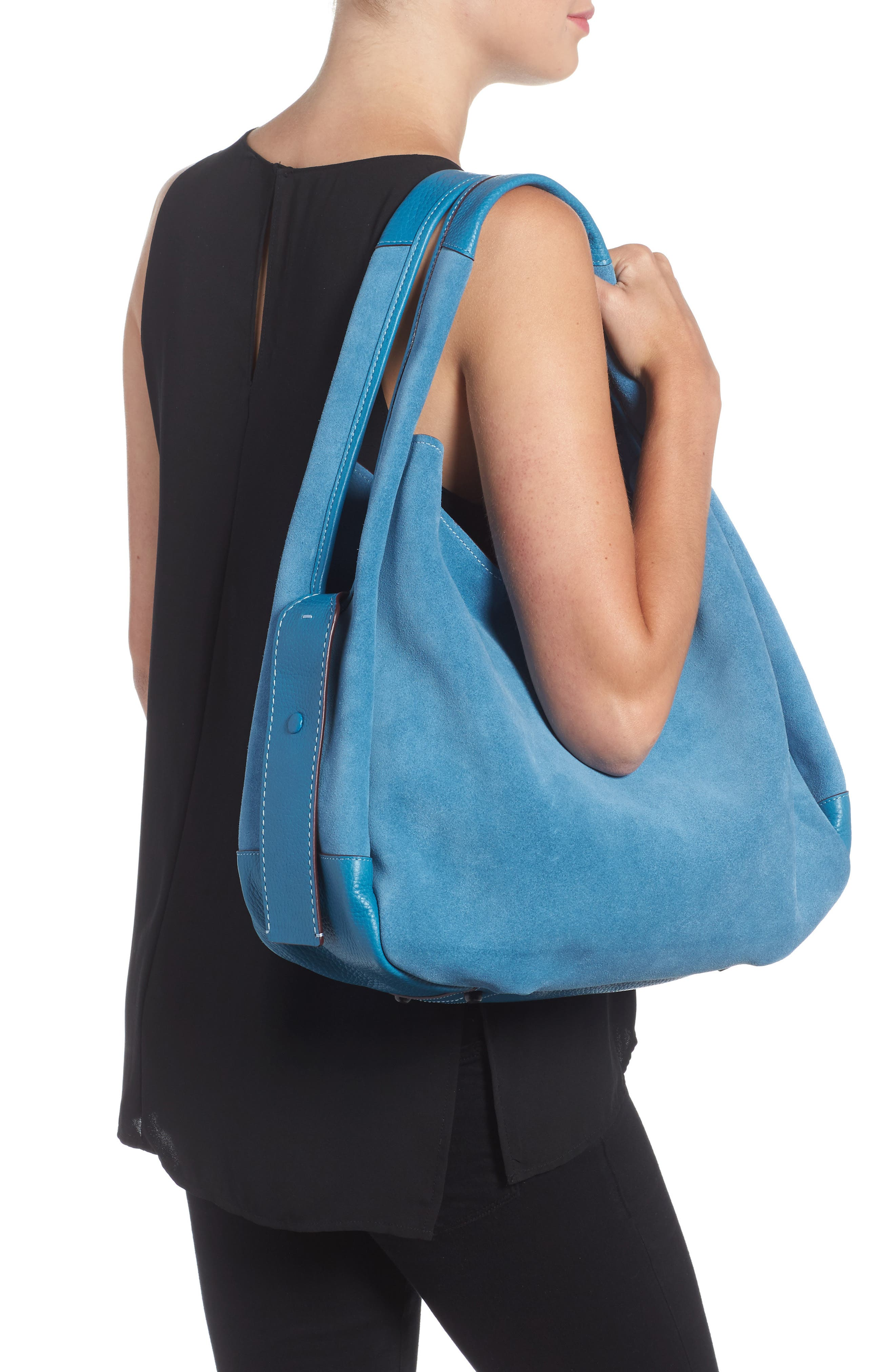 Bandit Suede Hobo & Removable Shoulder Bag,                             Alternate thumbnail 2, color,                             453