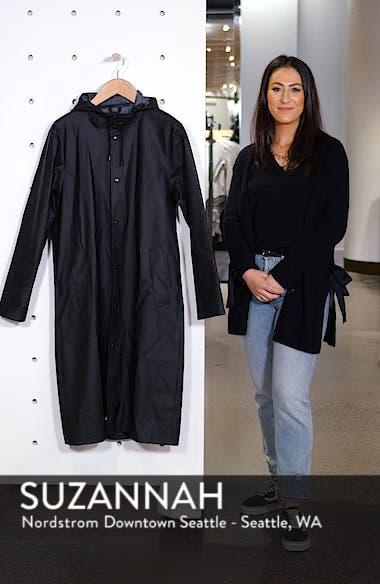Long Logo Print Waterproof Raincoat, sales video thumbnail