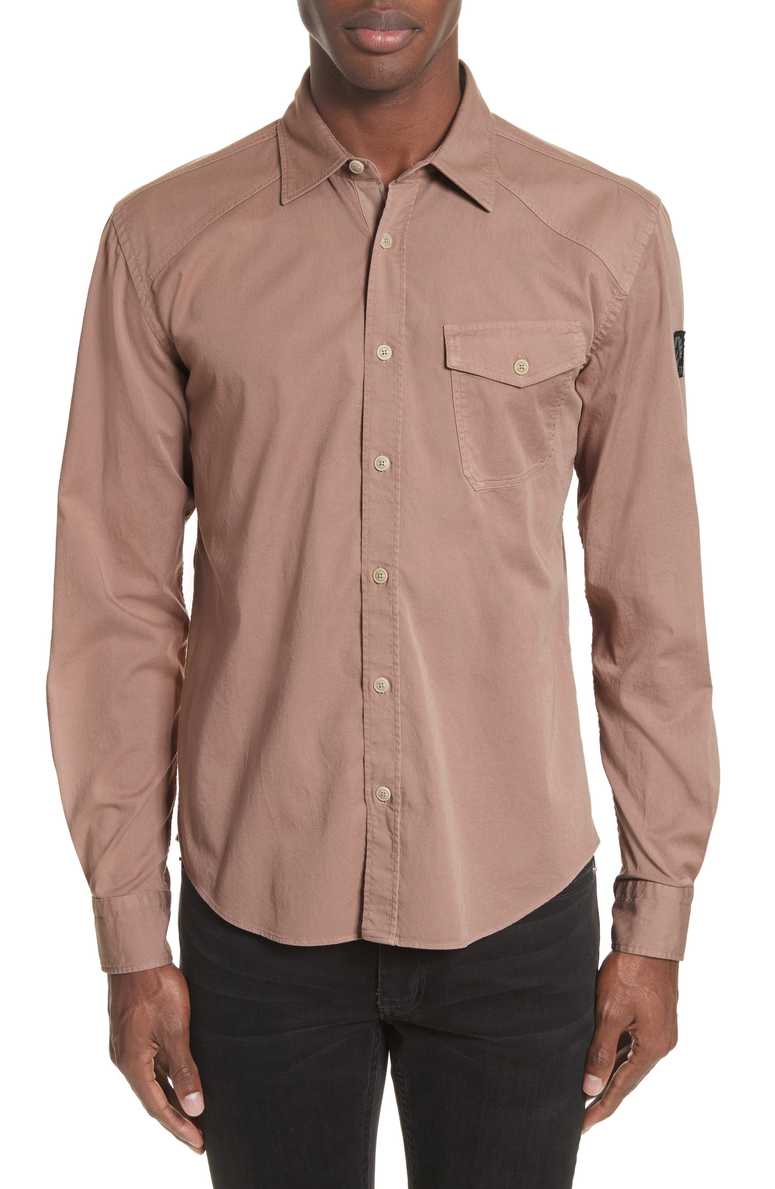 Steadway Extra Slim Fit Sport Shirt,                             Alternate thumbnail 18, color,
