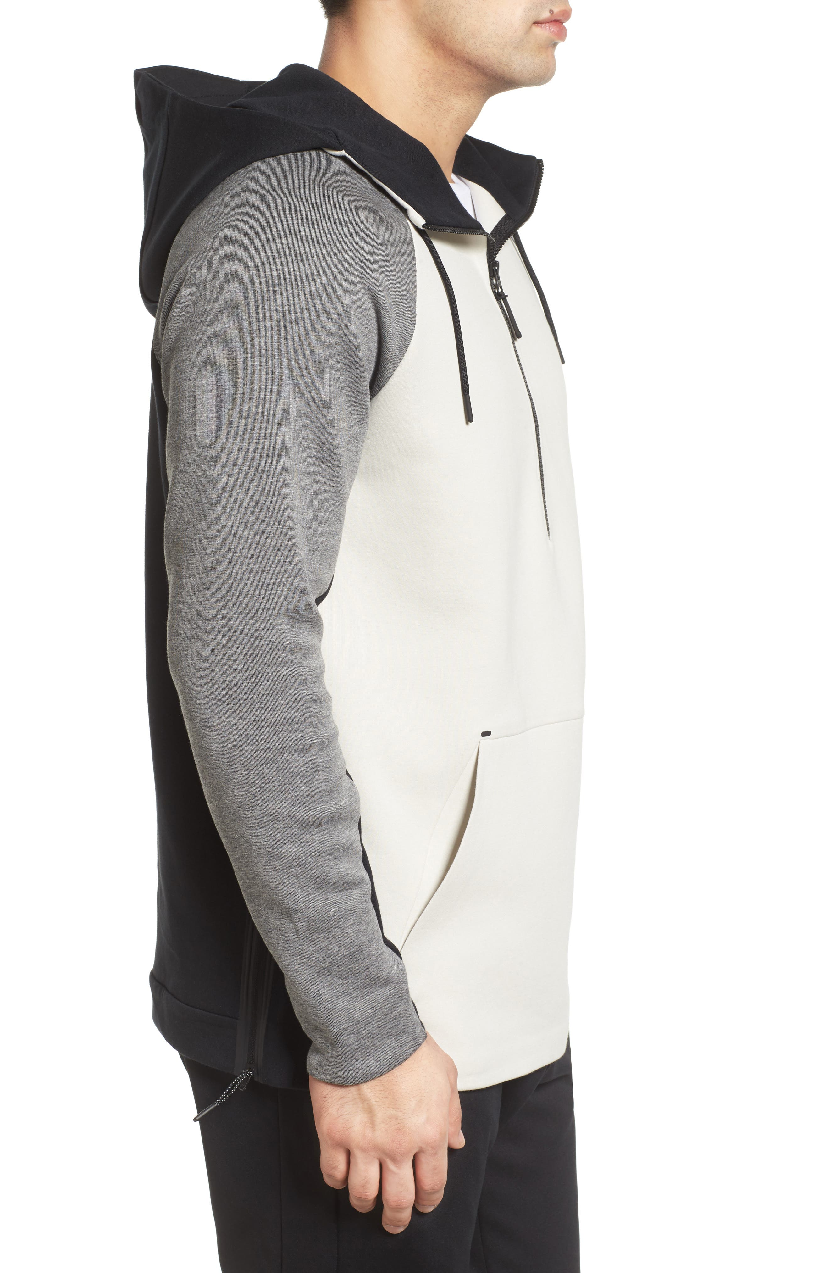 Half-Zip Pullover Hoodie,                             Alternate thumbnail 8, color,