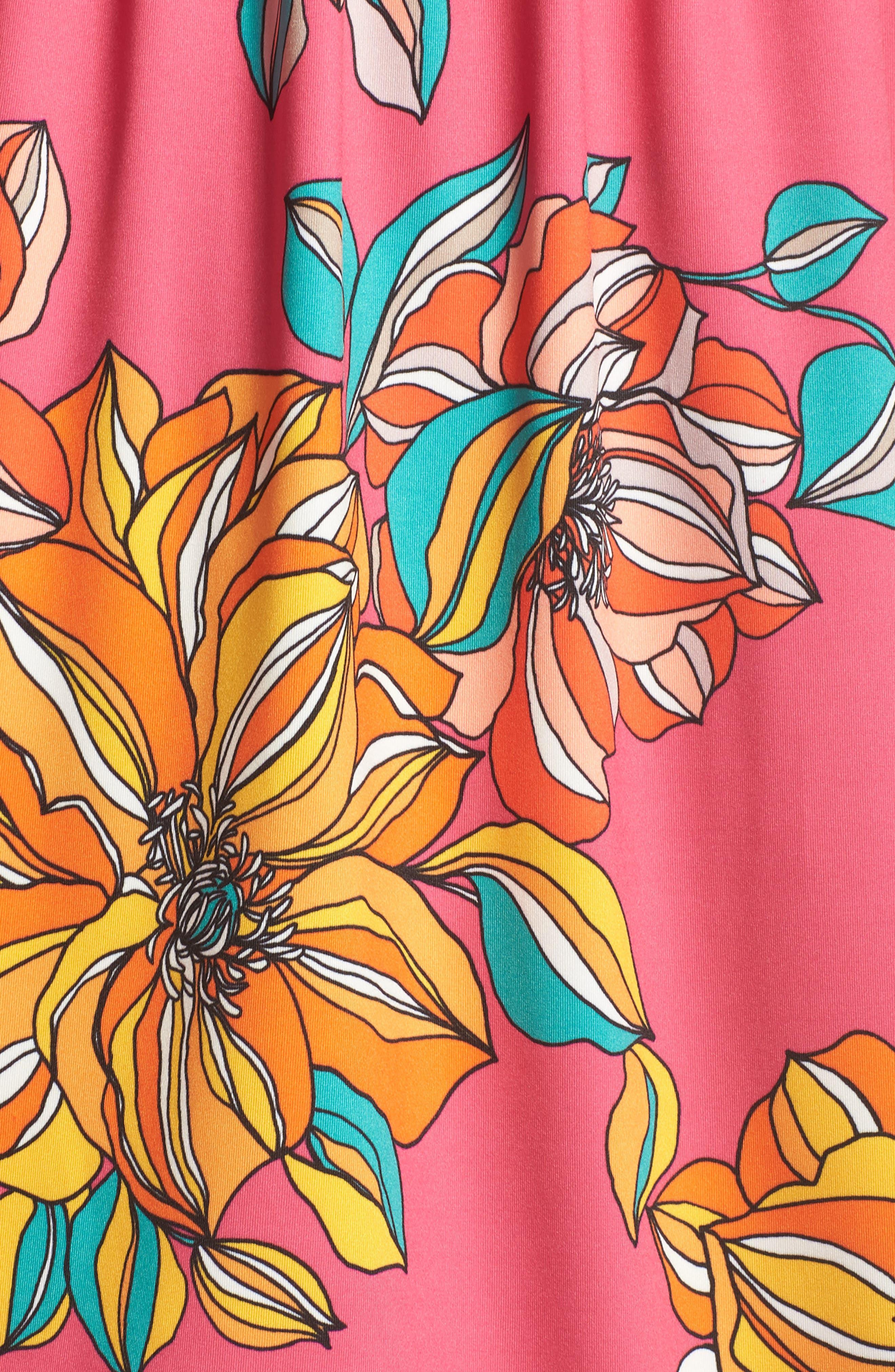 Ventana Cold Shoulder Babydoll Dress,                             Alternate thumbnail 5, color,