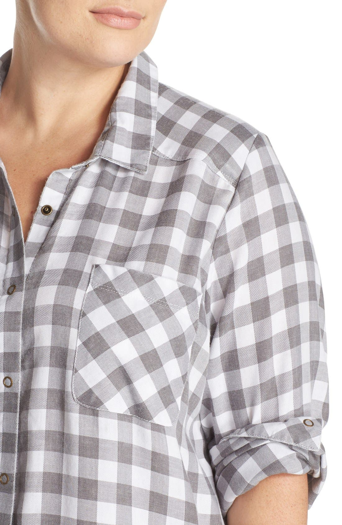 Plaid Night Shirt,                             Alternate thumbnail 16, color,