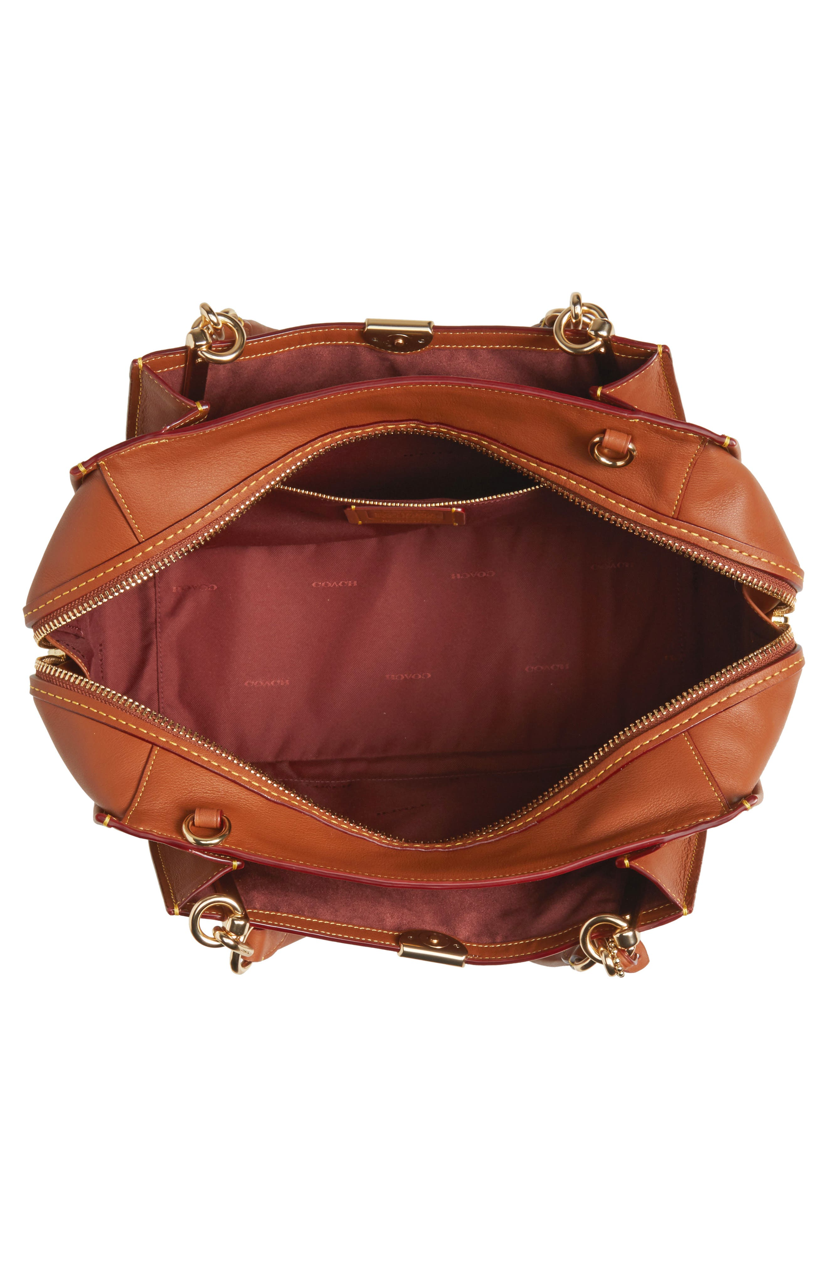 COACH,                             Dreamer 36 Leather Bag,                             Alternate thumbnail 4, color,                             LI/ 1941 SADDLE