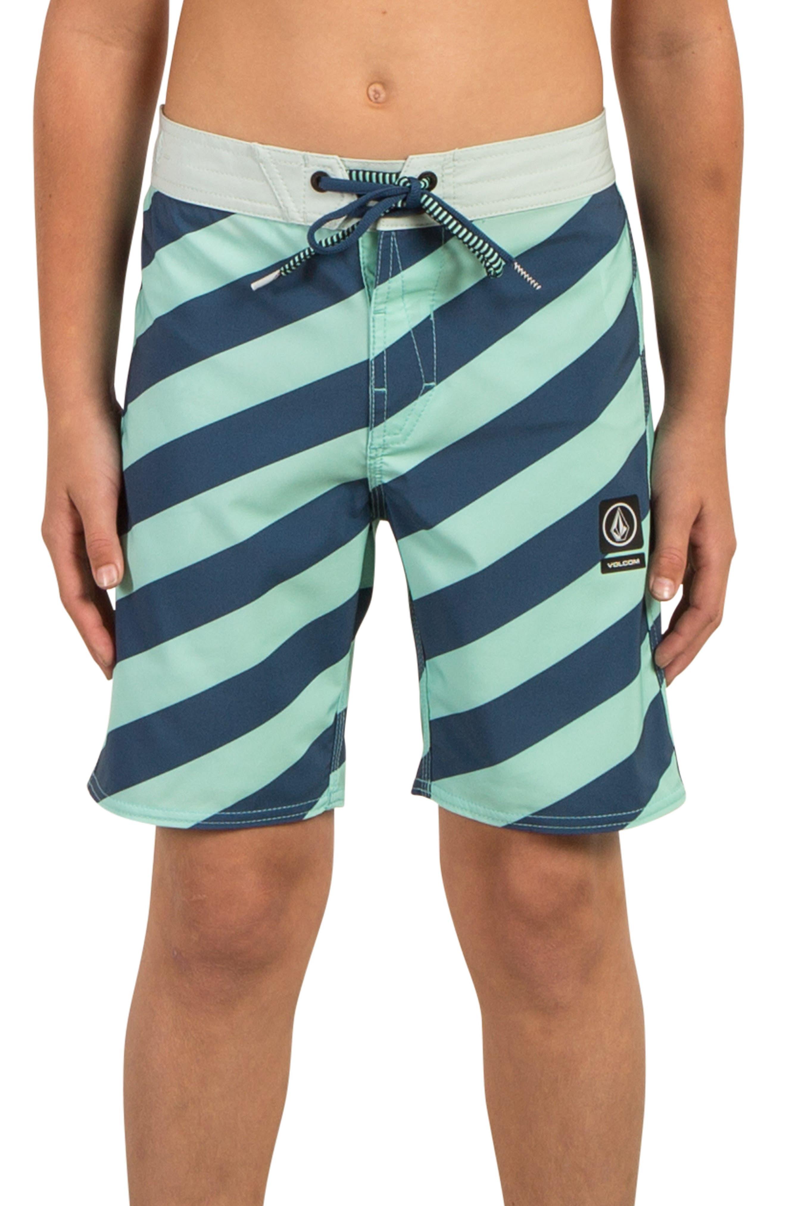 Stripey Jammer Board Shorts,                             Main thumbnail 3, color,