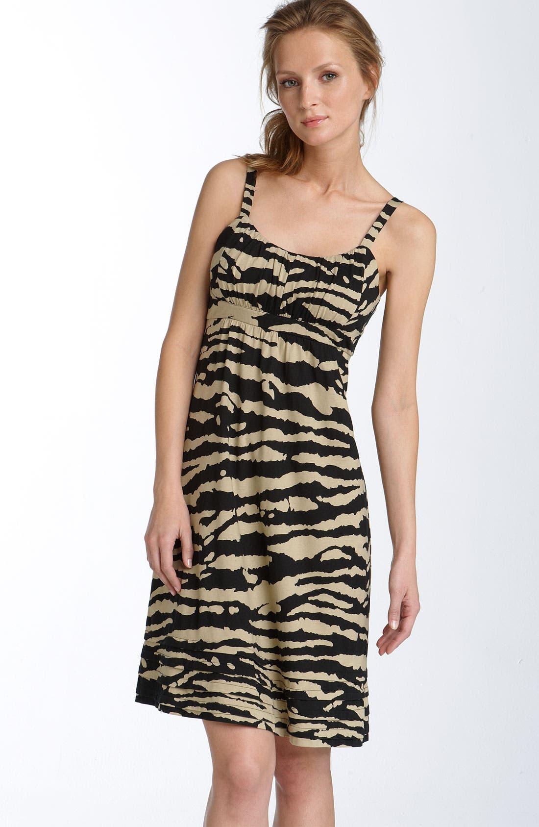 Print Cotton Blend Dress,                             Main thumbnail 1, color,                             250